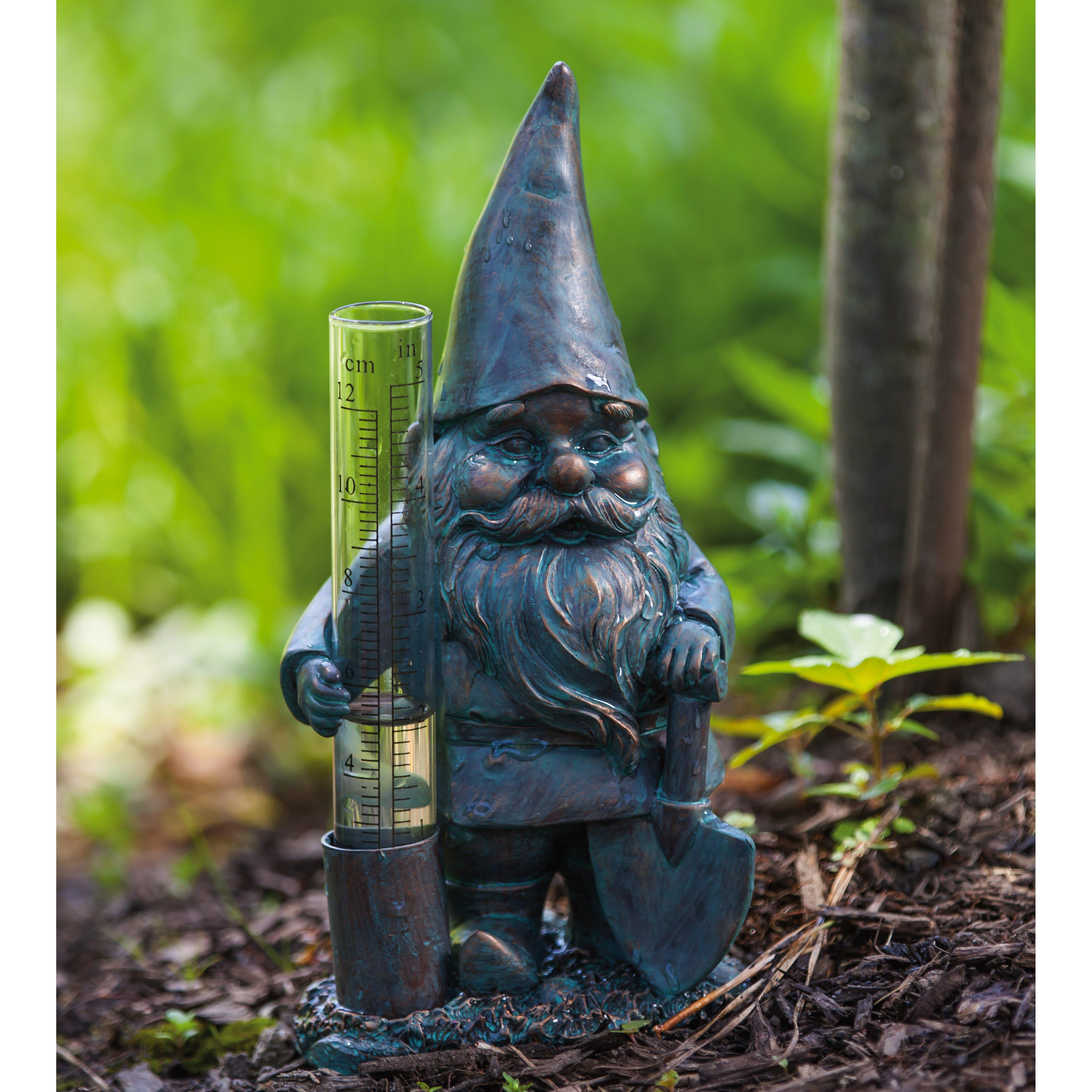 Evergreen Enterprises Inc 2 Piece Fariy and Gnome Rain Gauge Set