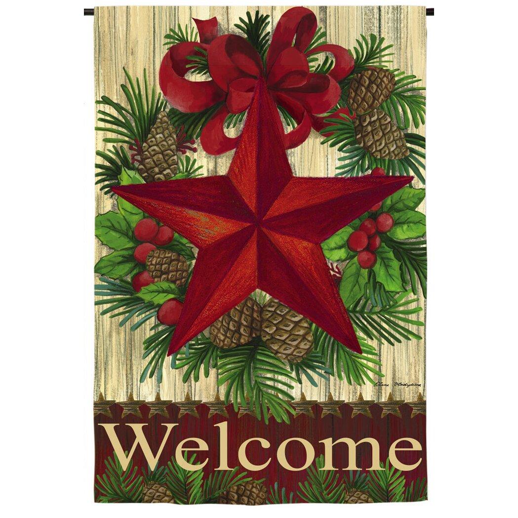 Evergreen Enterprises Inc Christmas Country Star Garden Flag