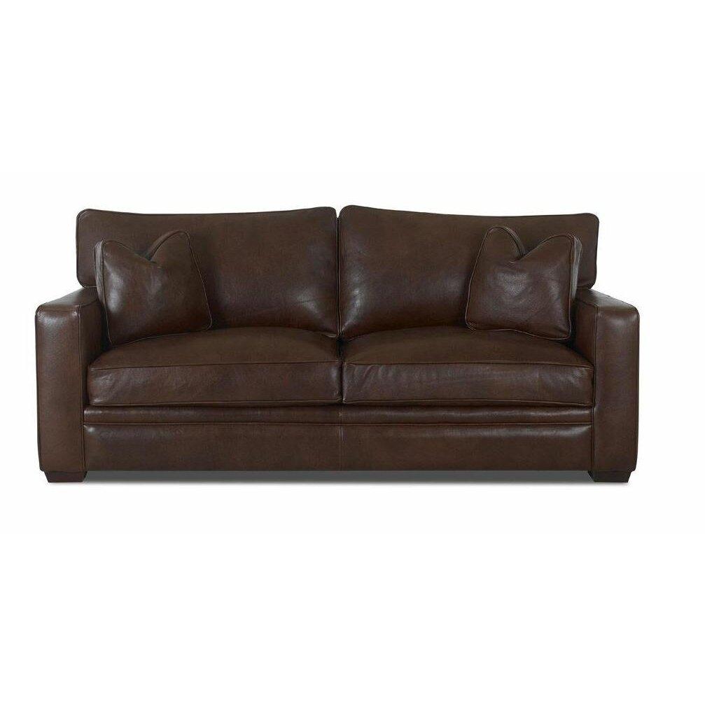 Klaussner Leather Sofa Refil Sofa