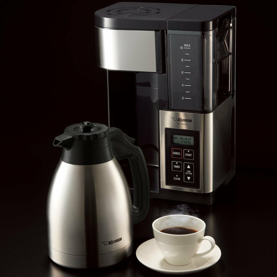 Coffee maker with grinder and thermal carafe - Zojirushi Gourmet Fresh Brew Plus Thermal Carafe 10 Cup Coffee Maker