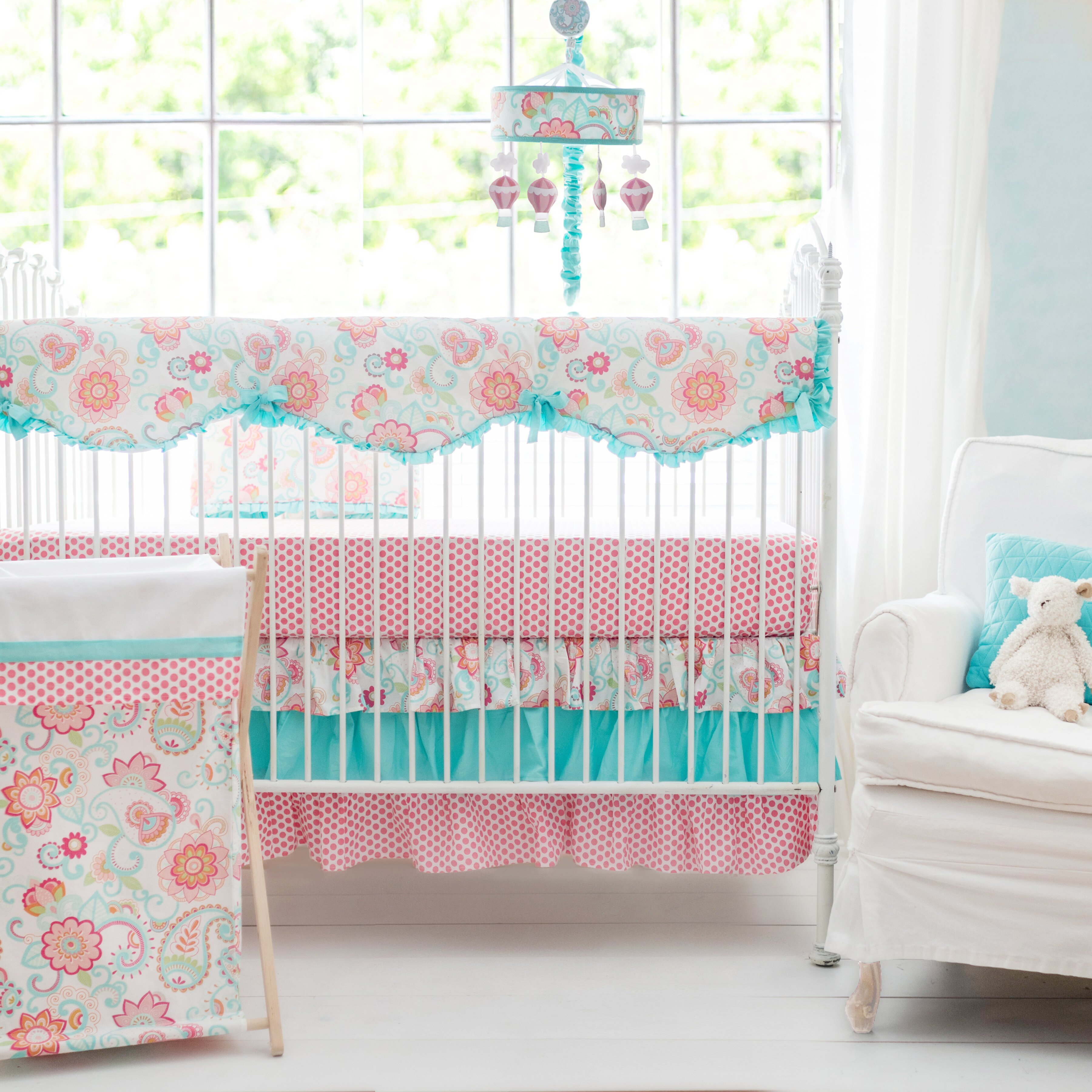 Crib protector for babies - My Baby Sam Gypsy Baby Crib Rail Cover
