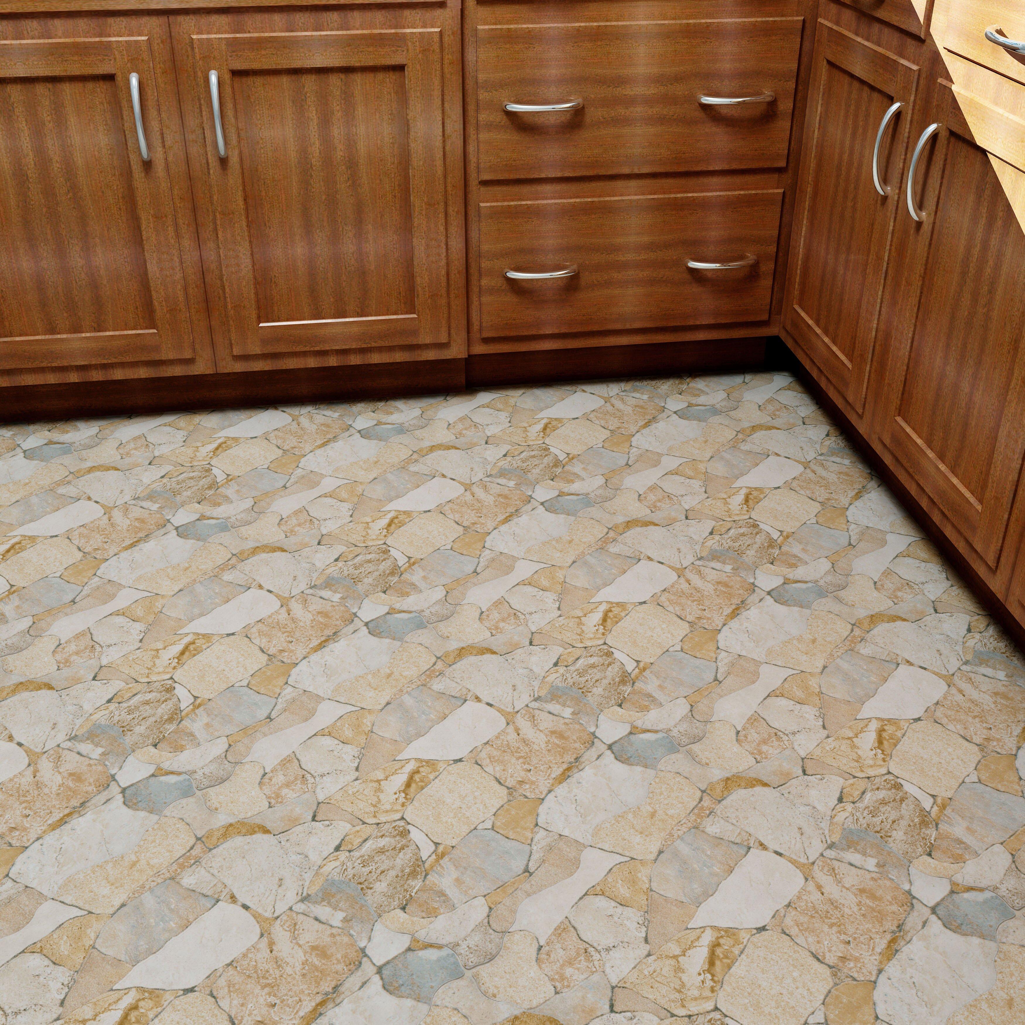 Flooring For Seasonal Homes: EliteTile Atticas Random Sized Ceramic Splitface Tile In