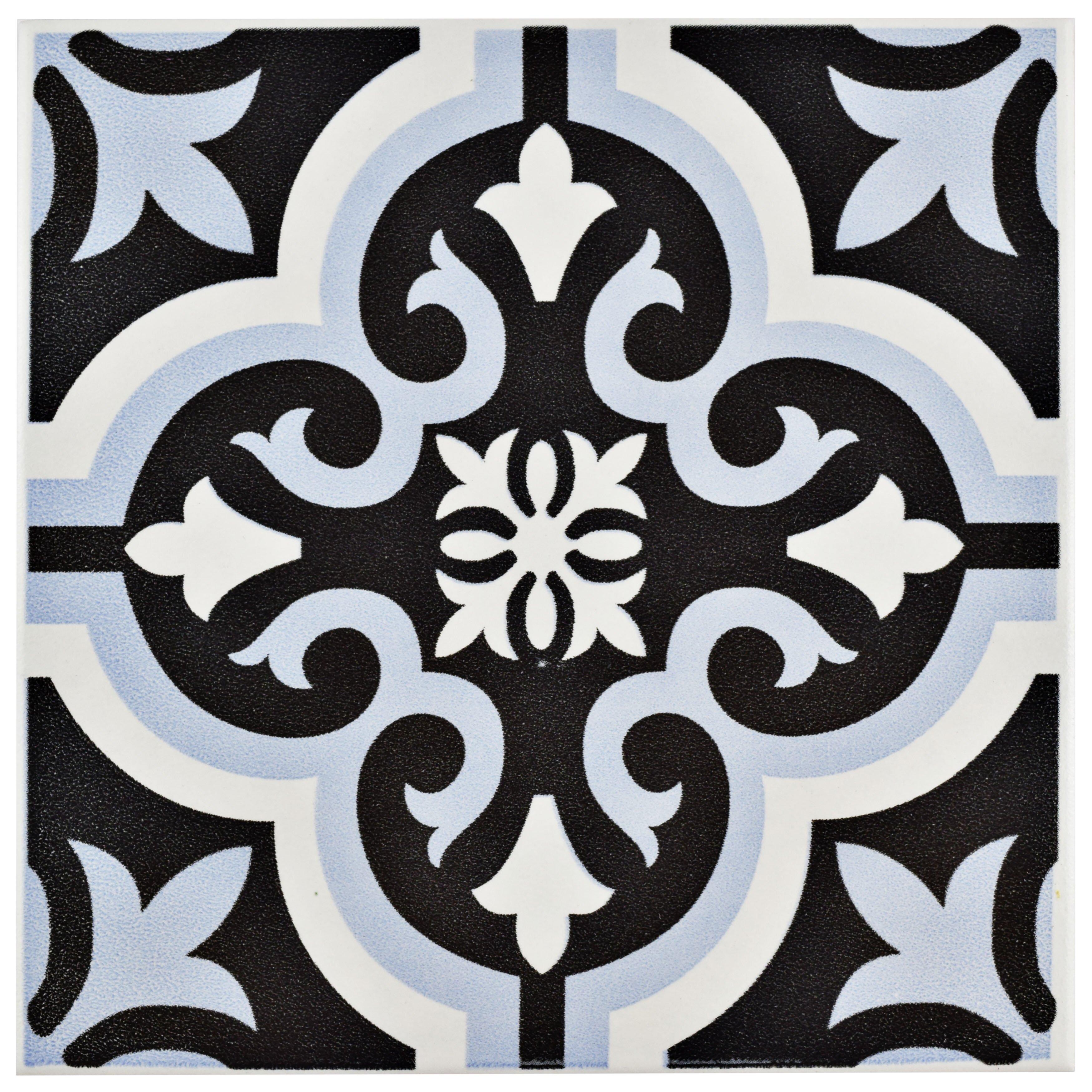 patterned ceramic tile - urevoo