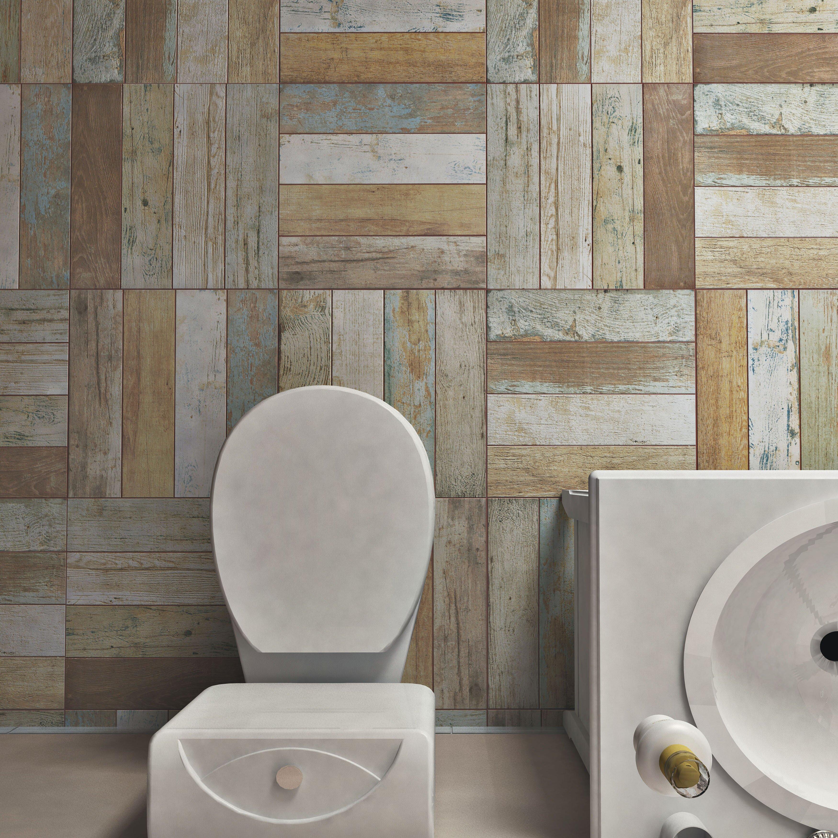 "Golden Elite Hardwood Flooring Reviews: EliteTile Royalty 17.75"" X 17.75"" Ceramic Wood Look Tile"