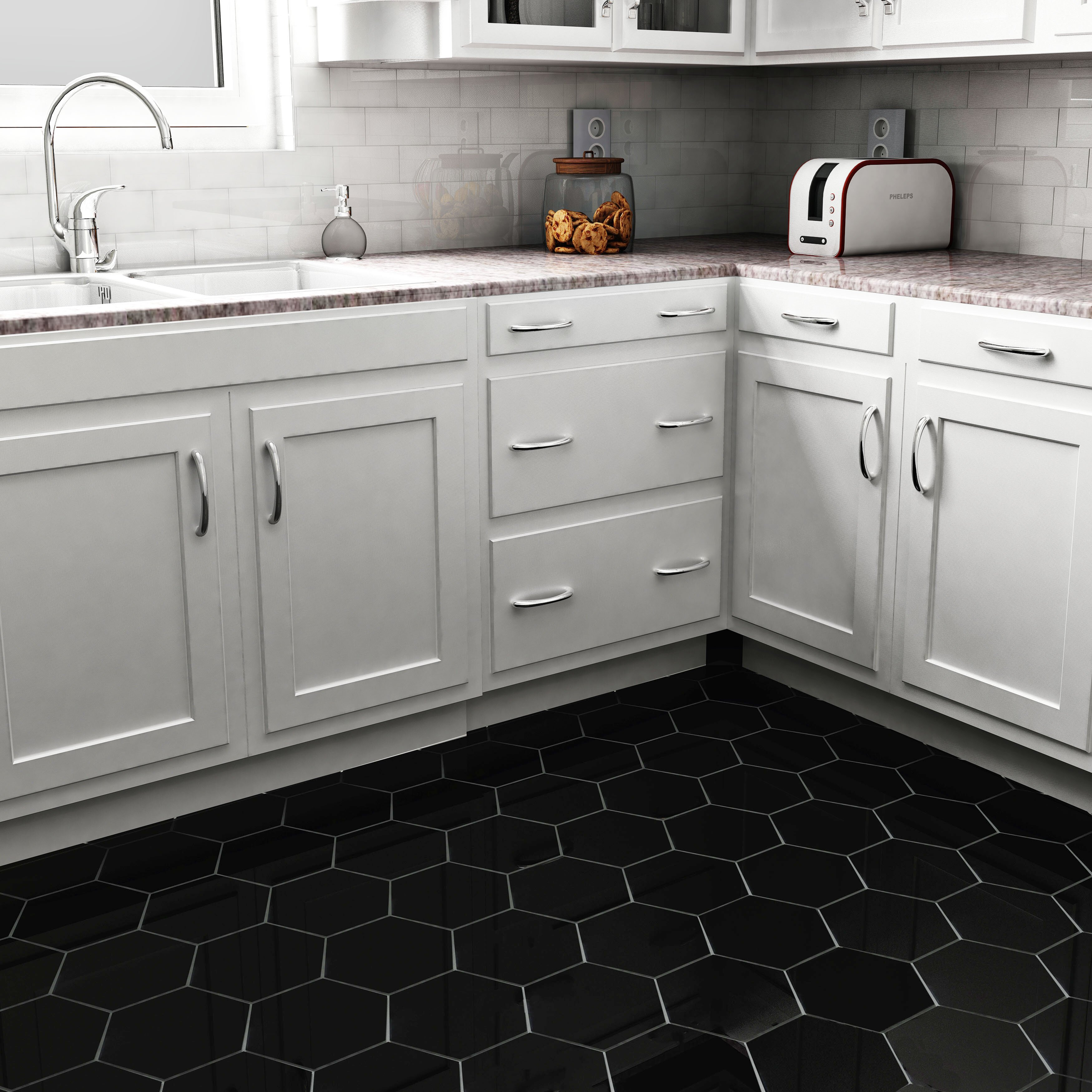 Elitetile Hexitile 7 Quot X 8 Quot Porcelain Field Tile In Matte