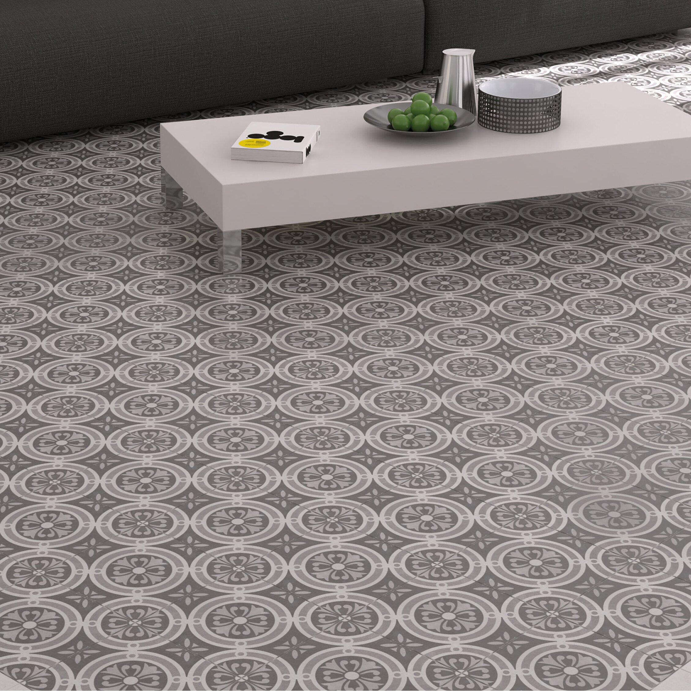 Elitetile Annata 9 75 Quot X 9 75 Quot Porcelain Field Tile In