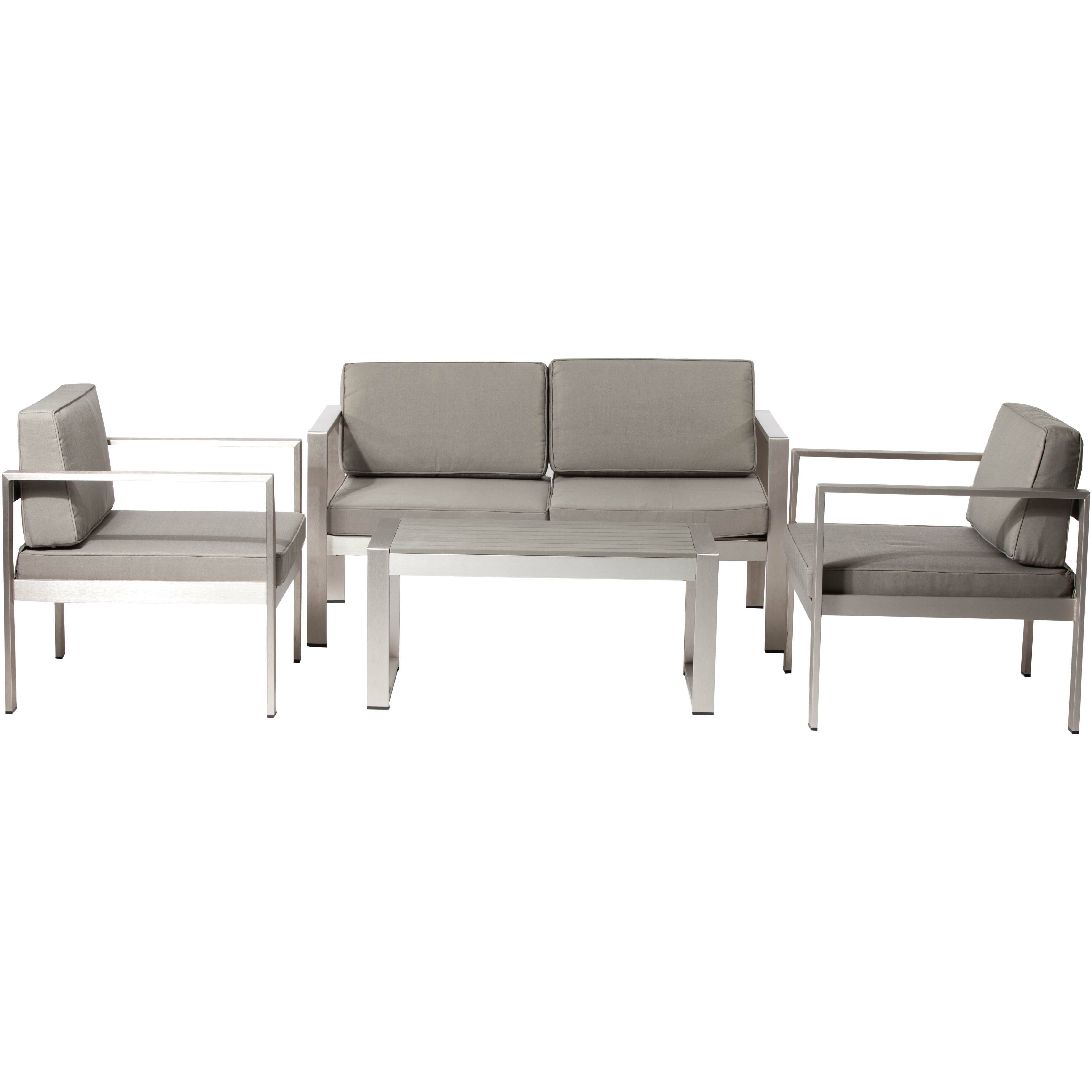 Pangea Home 4 Piece Karen Lounge Seating Group with