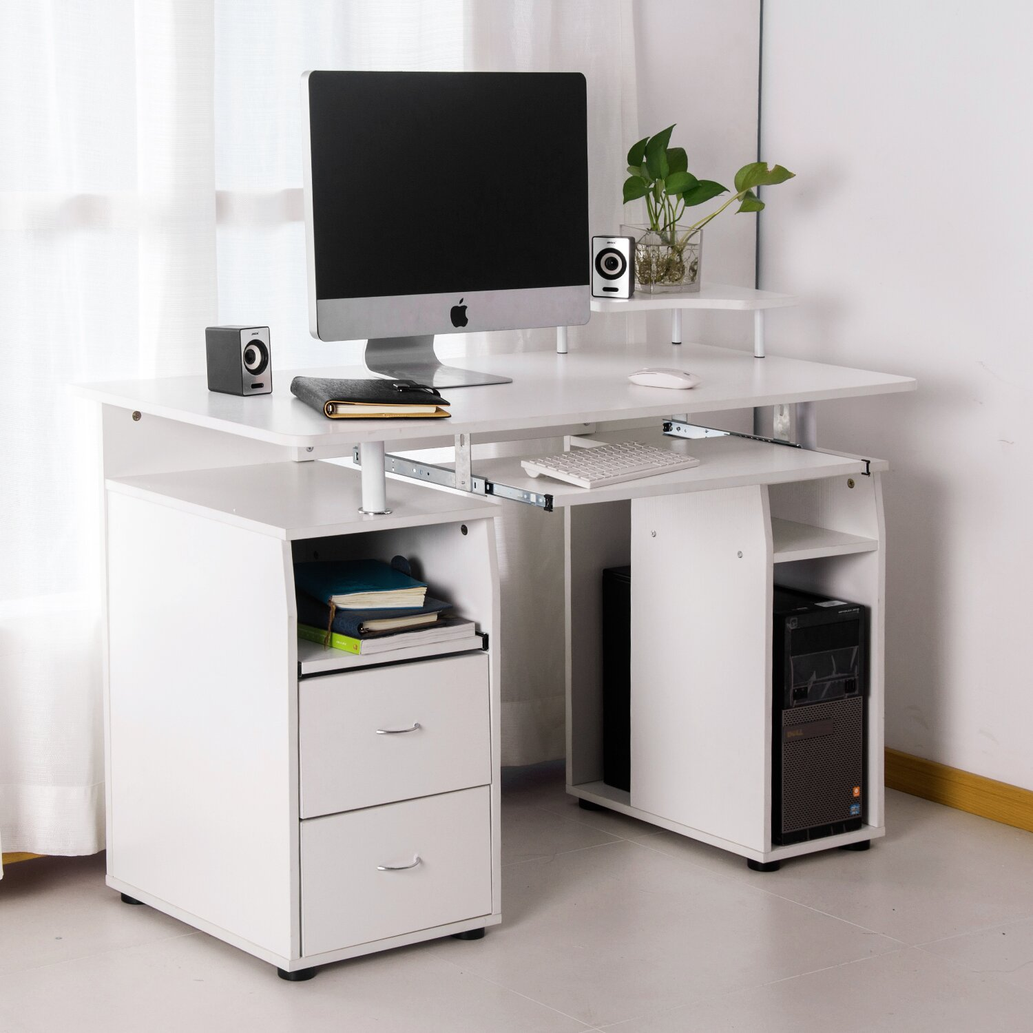 Hidden Printer Cabinet Hidden Desk Cabinet Wayfair