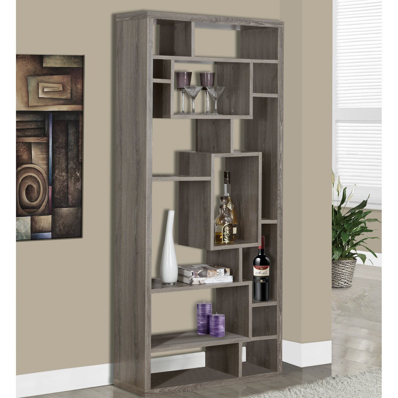 Monarch Specialties Inc 72 Cube Unit Bookcase