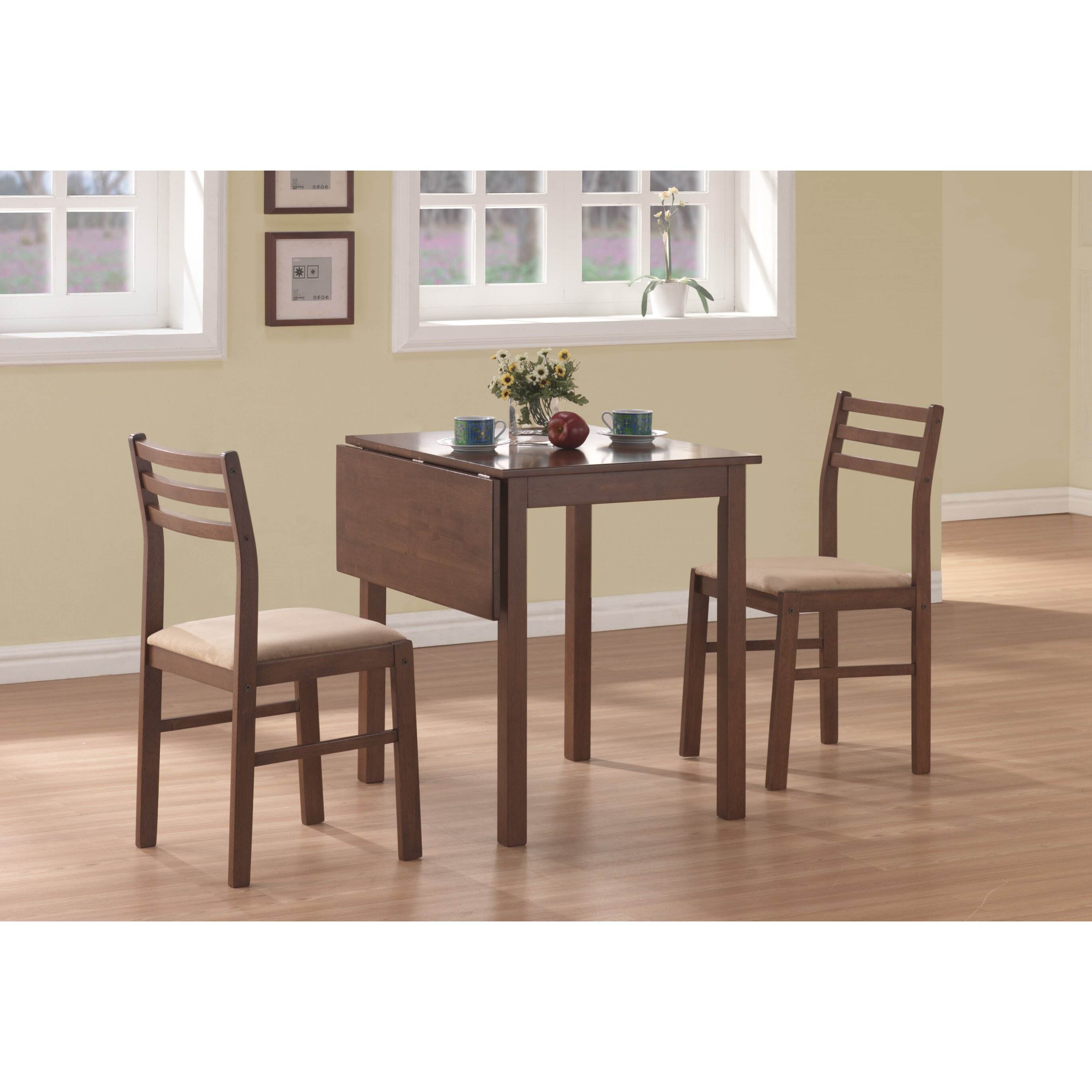 3 piece kitchen dining room sets c a~ two seat kitchen table 3 Piece Dining Set