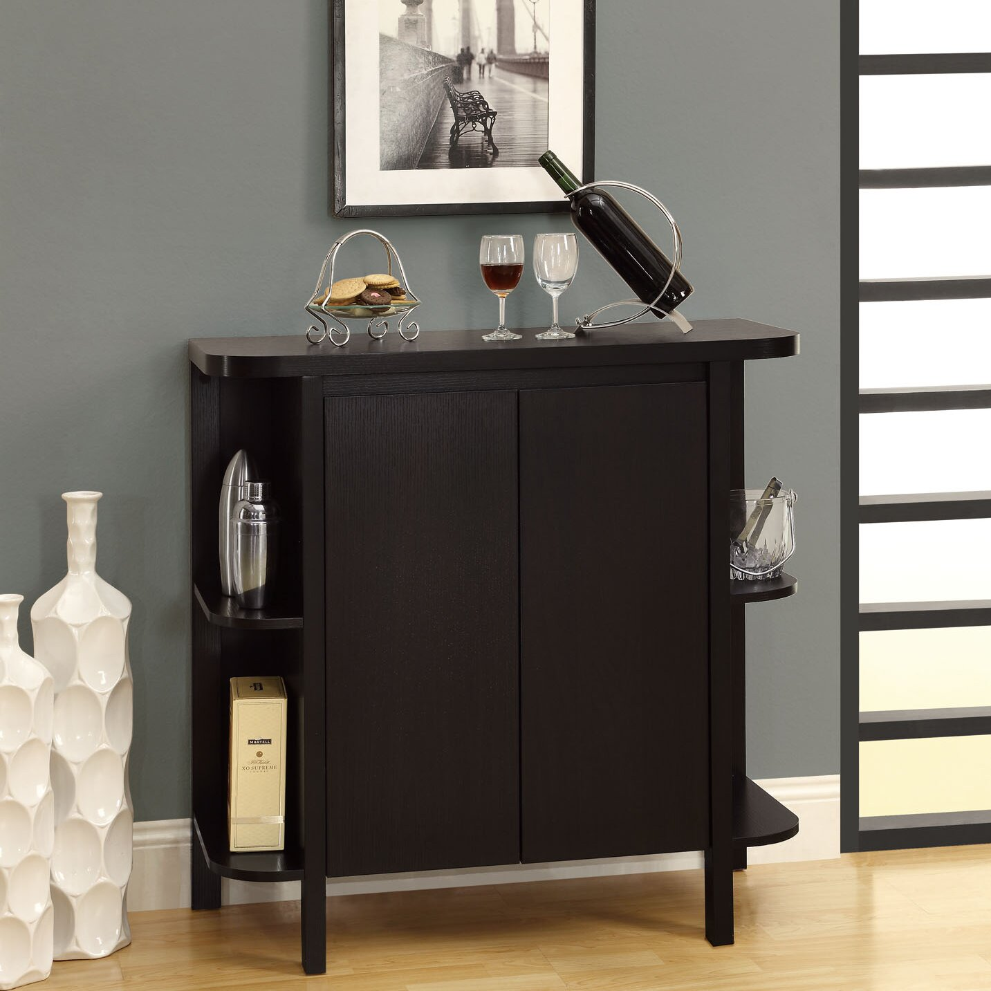 Crate And Barrel Liquor Cabinet. Spotlight Ebony Bookcase ...