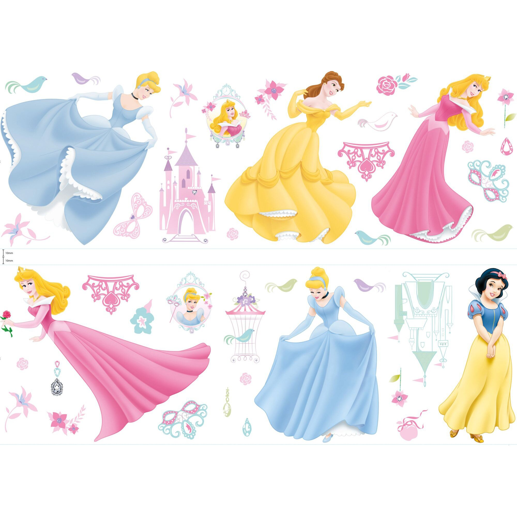 disney princess wall sticker wayfair co uk disney princess wall stickers walltastic