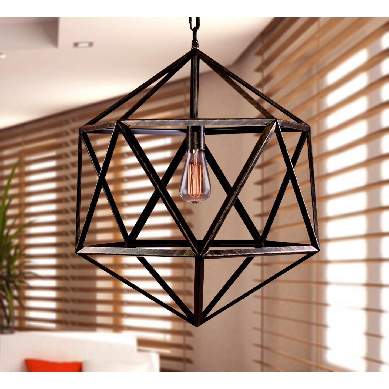 Warehouse Of Tiffany Mccoy 1 Light Geometric Pendant