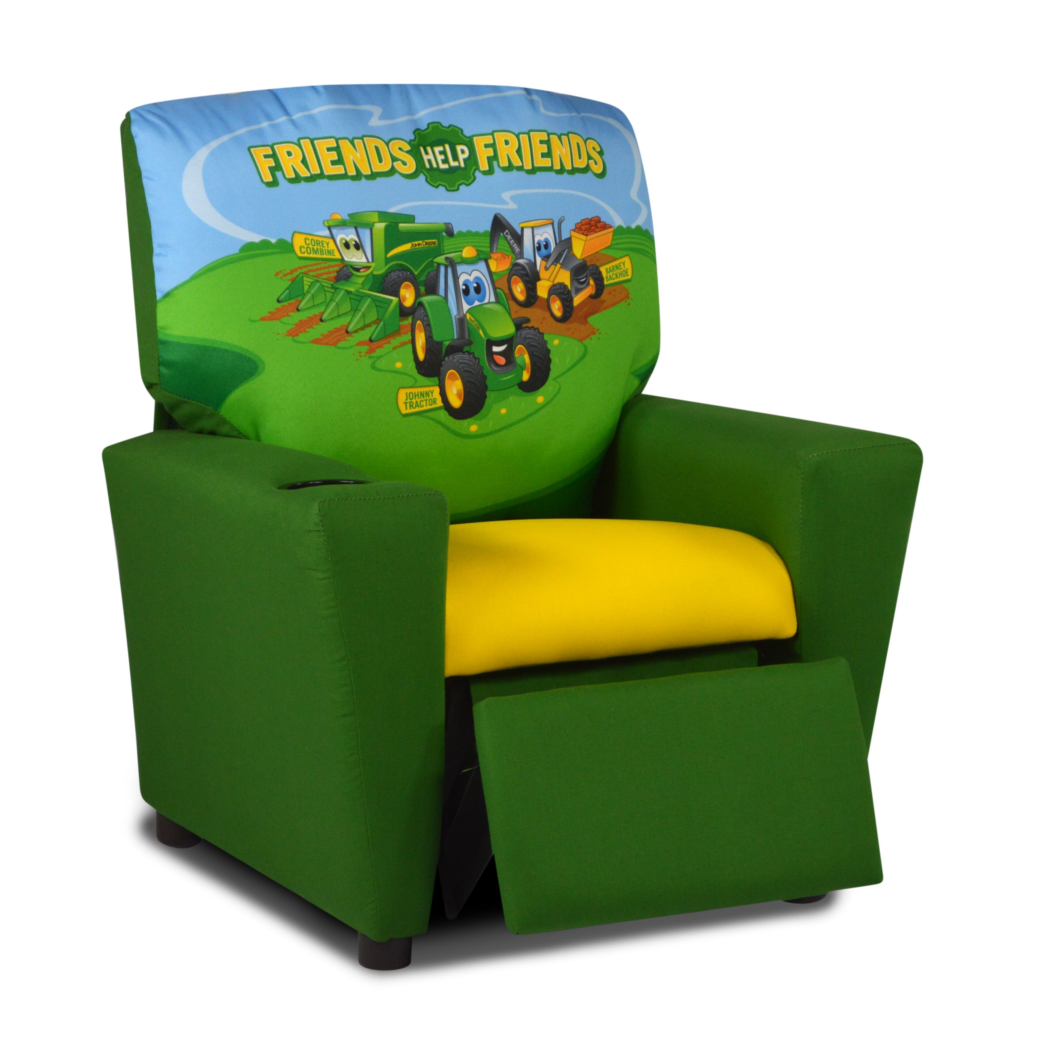 john deere kids recliner with cup holder & reviews | wayfair