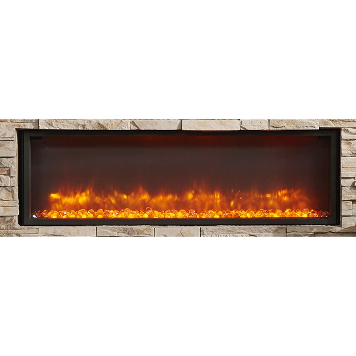 The Outdoor GreatRoom Company Gallery Linear Built in Wall Mount Electric  Fireplace - The Outdoor GreatRoom Company Gallery Linear Built In Wall Mount