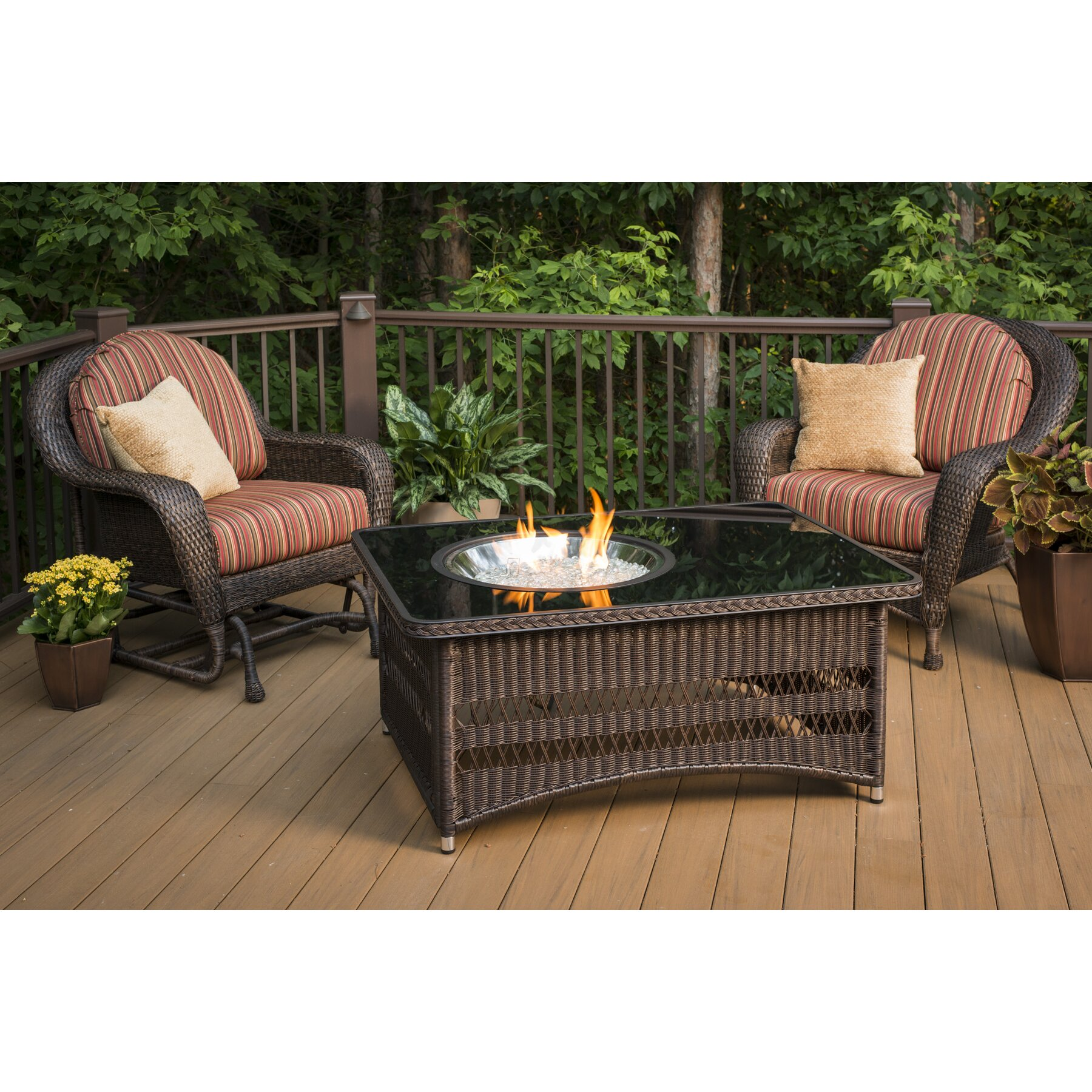 The Outdoor GreatRoom Company Naples Coffee Table with ...