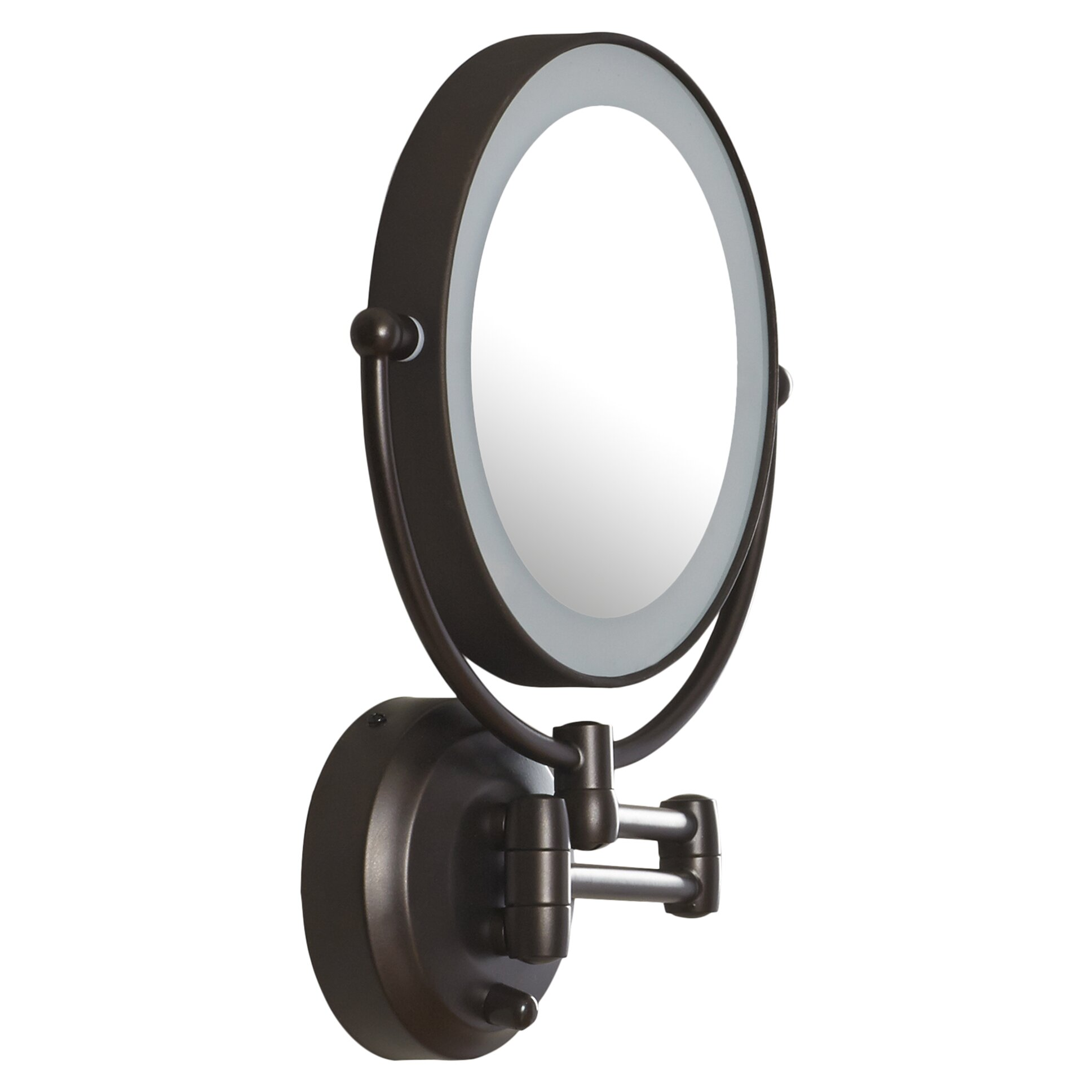 Zadro Wall Mounted Lighted Makeup Mirror: Zadro LED Lighted 1X/10X Magnification Mount Wall Mirror. Magnifying glass,Lighting