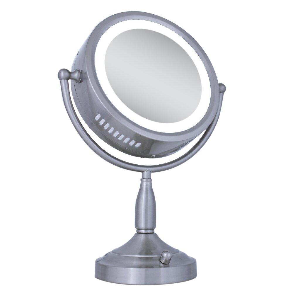 zadro dual sided lighted vanity mirror reviews wayfair. Black Bedroom Furniture Sets. Home Design Ideas