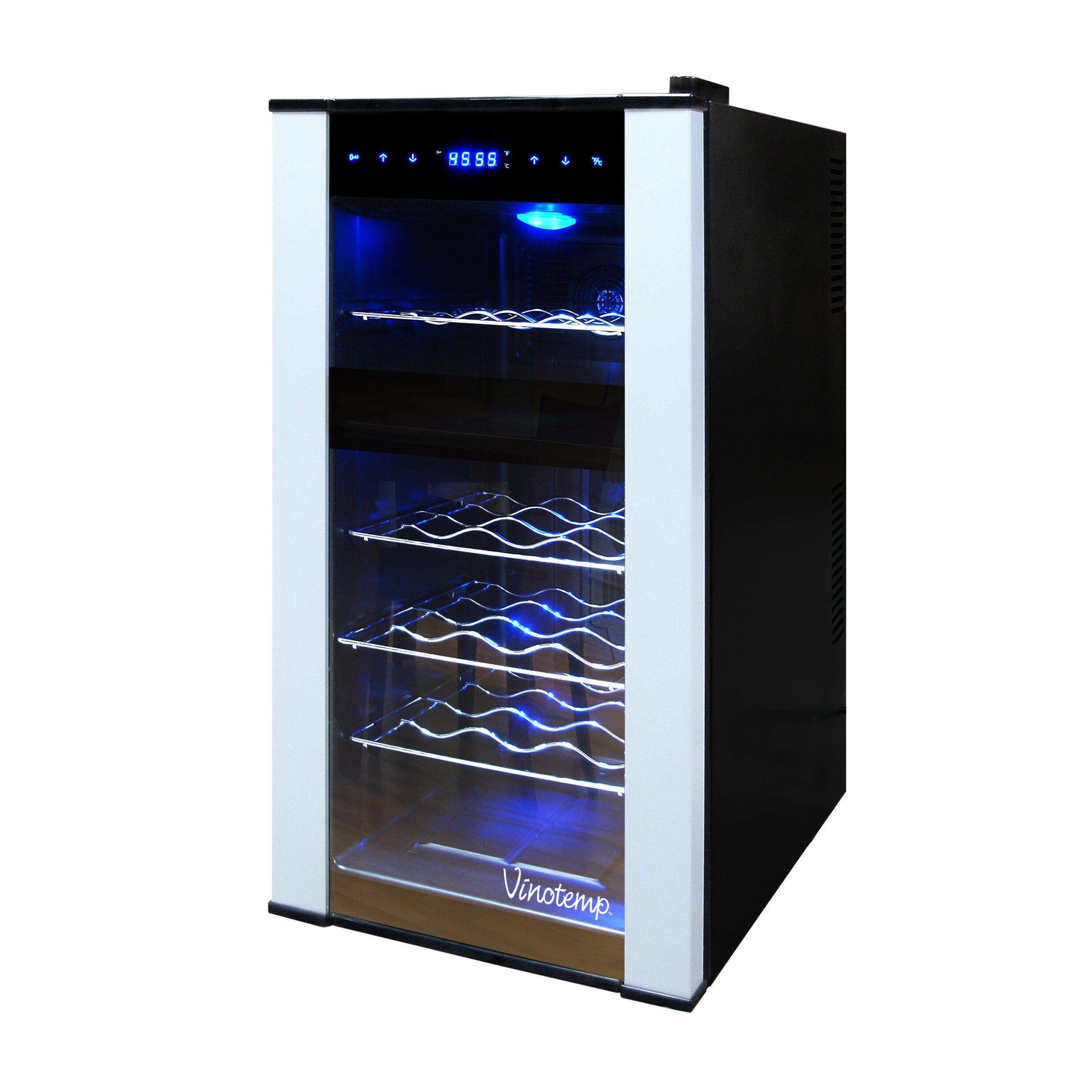 Cabinet With Wine Cooler Vinotemp 18 Bottle Dual Zone Freestanding Wine Refrigerator