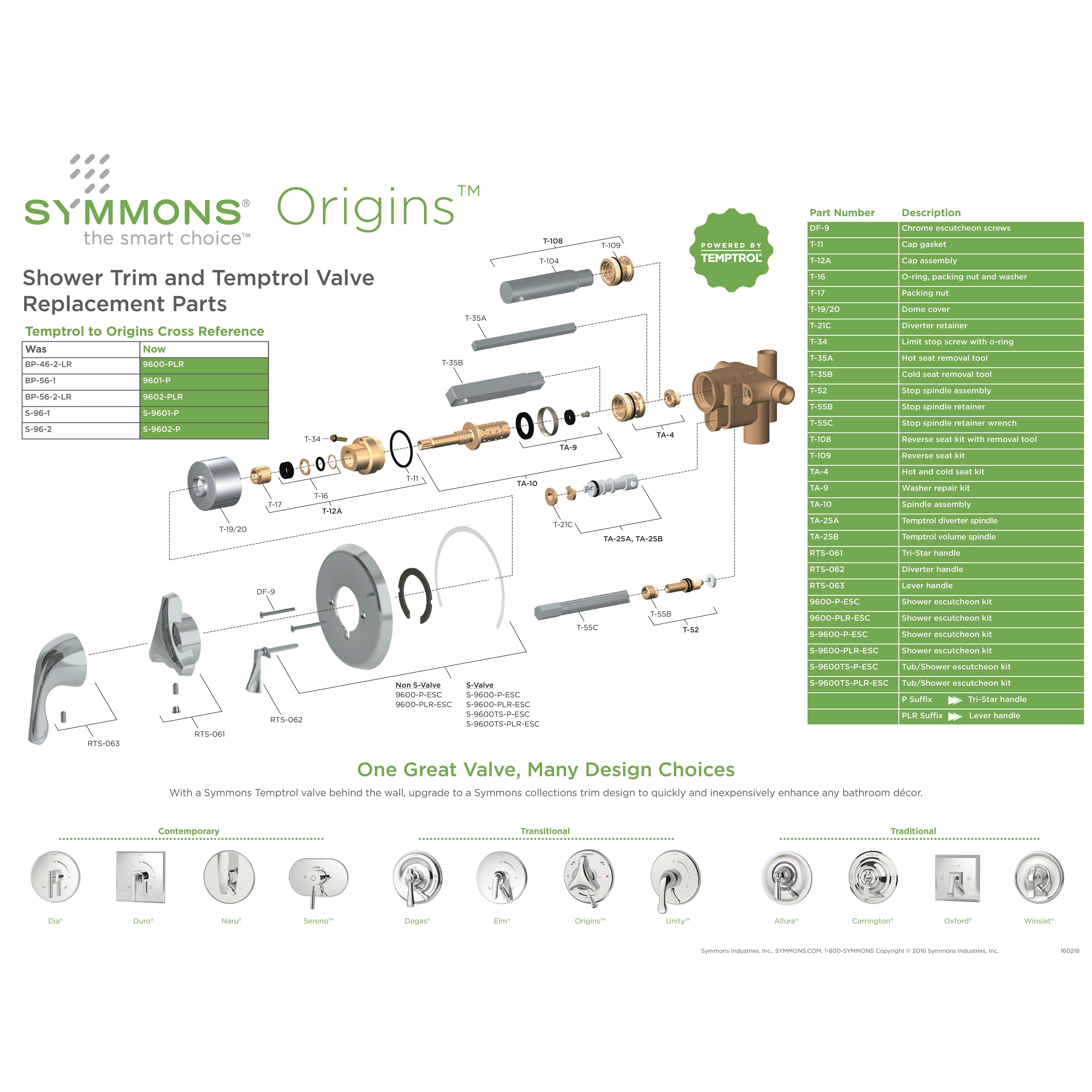 symmons dia shower valve trim with lever handle reviews wayfair - Shower Faucet Repair