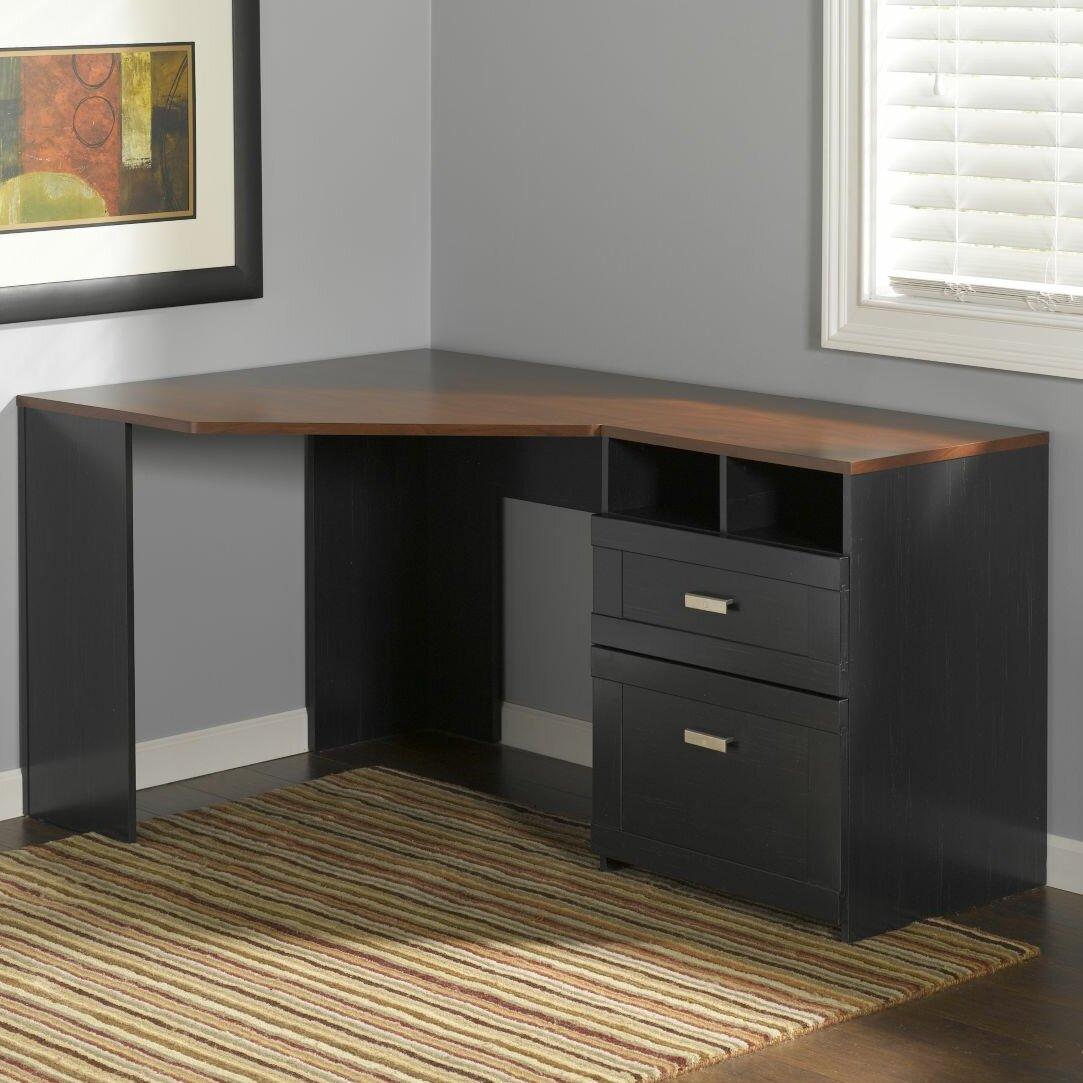 Corner Computer Desk: Bush Furniture Wheaton Corner Computer Desk & Reviews