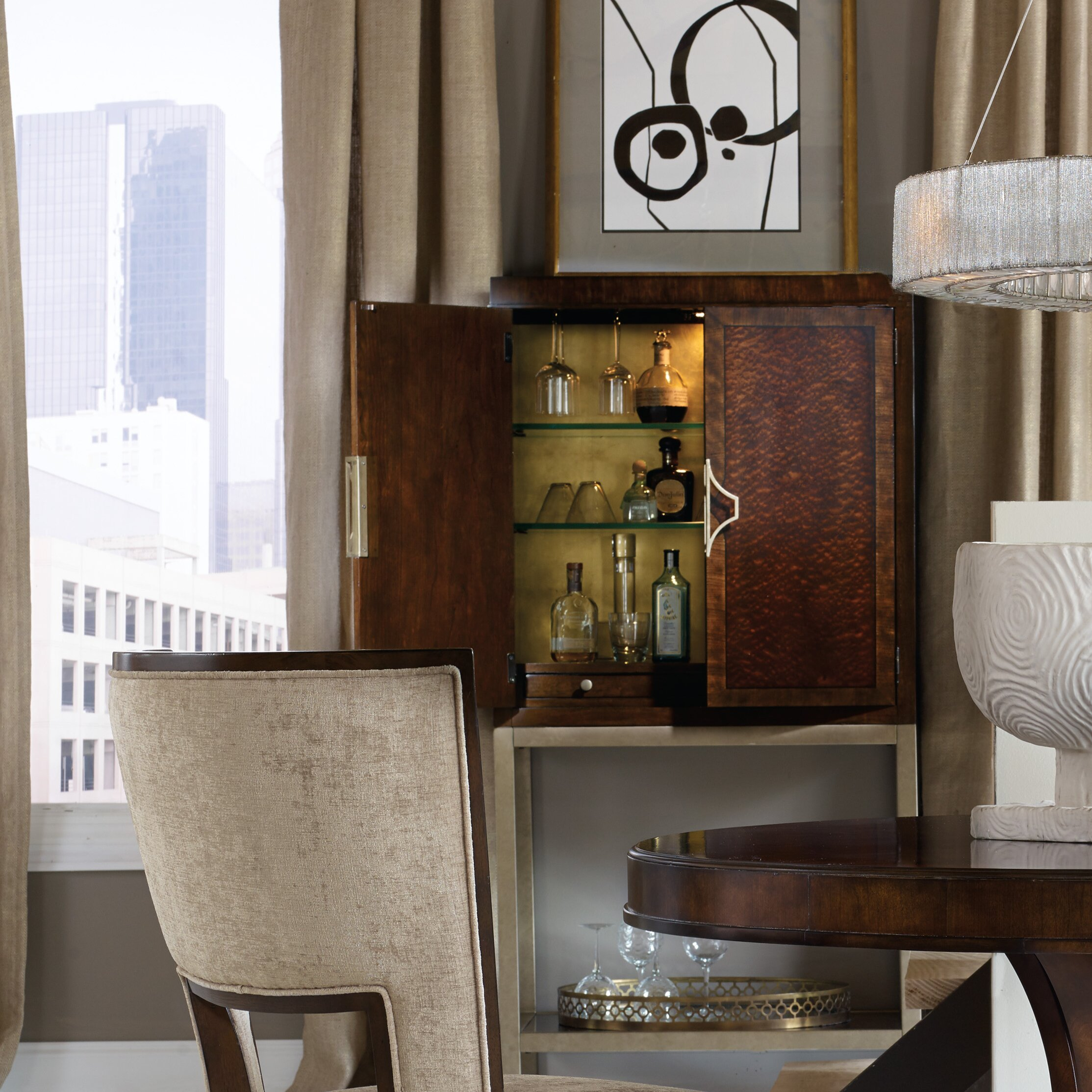 Living Room Bar Cabinet Hooker Furniture Skyline Bar Cabinet Reviews Wayfair