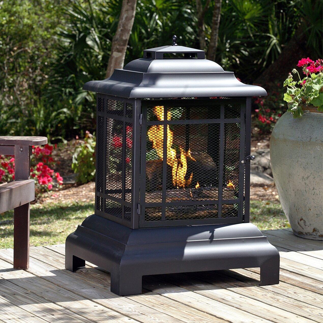 Fire Sense Patio Steel Charcoal Pagoda Reviews – Patio Fireplace