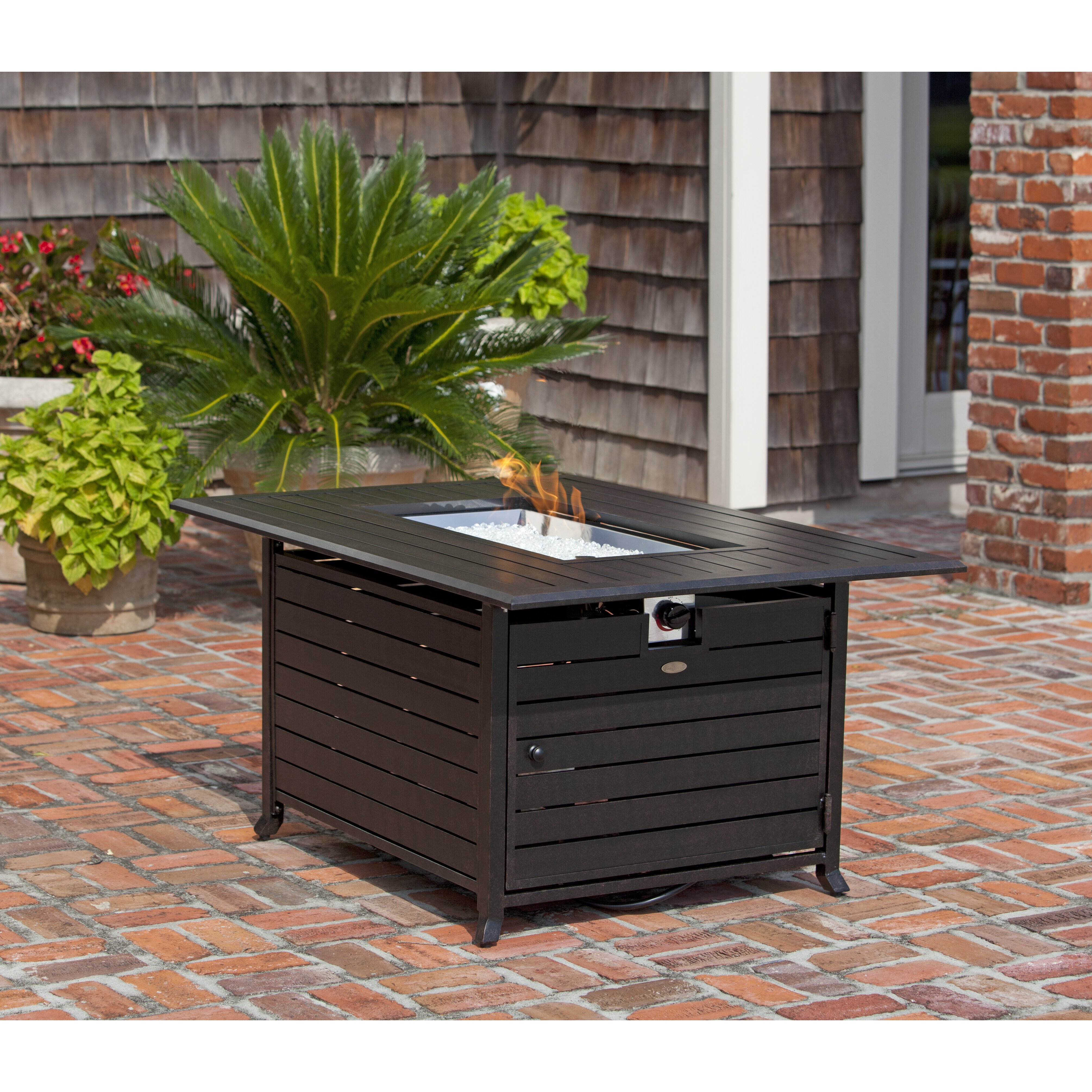 Fire Sense Extruded Aluminum Propane Fire Pit Table ...