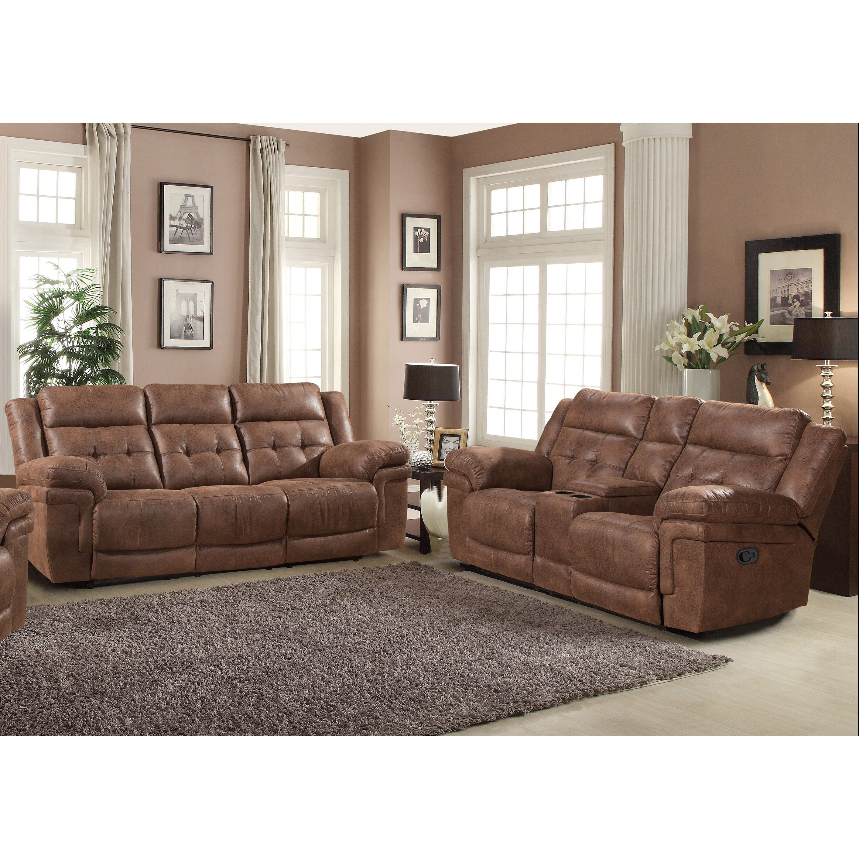 Ac pacific kingston 2 piece living room set