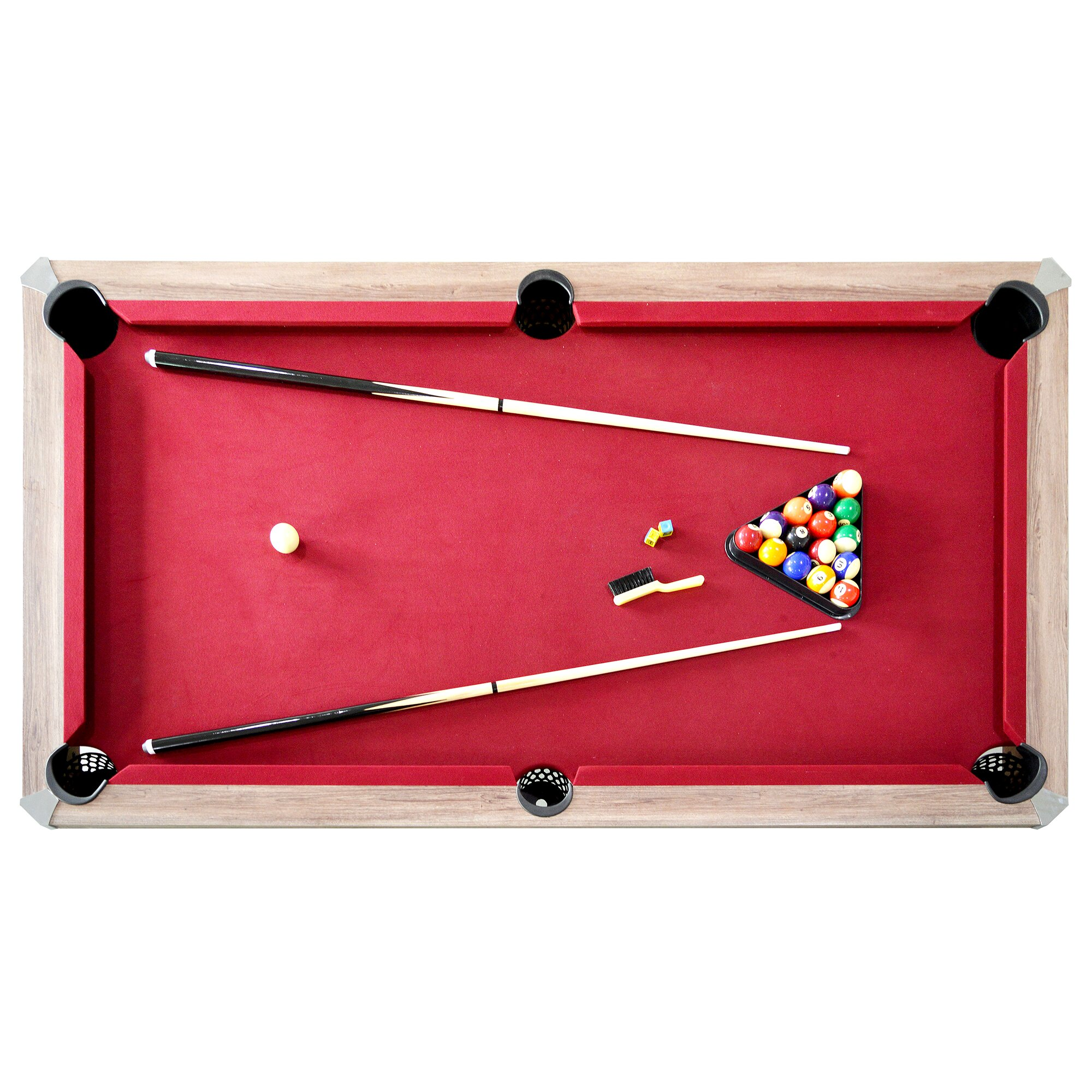 hathaway games newport 2 piece 7 39 pool table set reviews wayfair. Black Bedroom Furniture Sets. Home Design Ideas