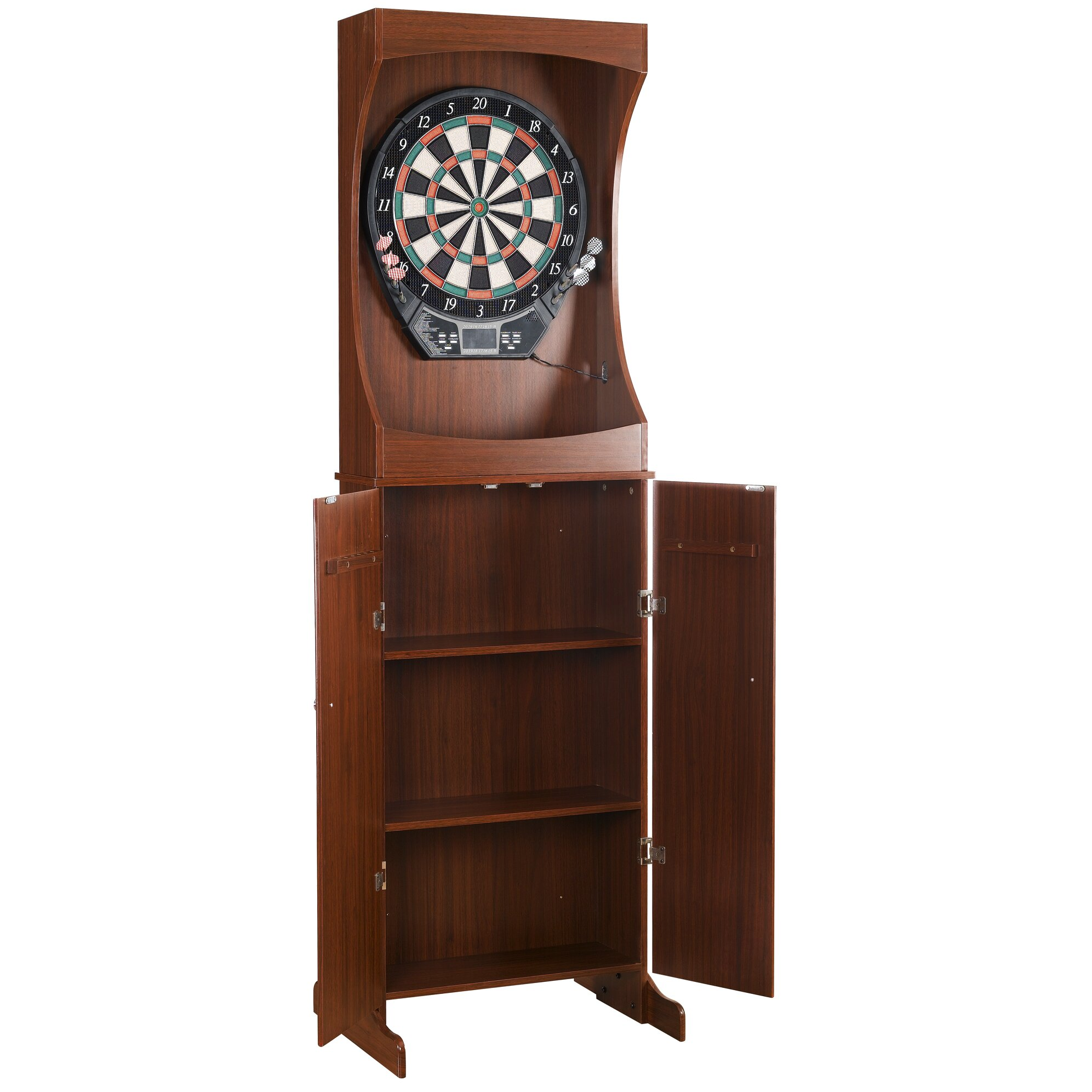 Dart Board Cabinet With Chalkboard Hathaway Games Outlaw Free Standing Dartboard And Cabinet Set