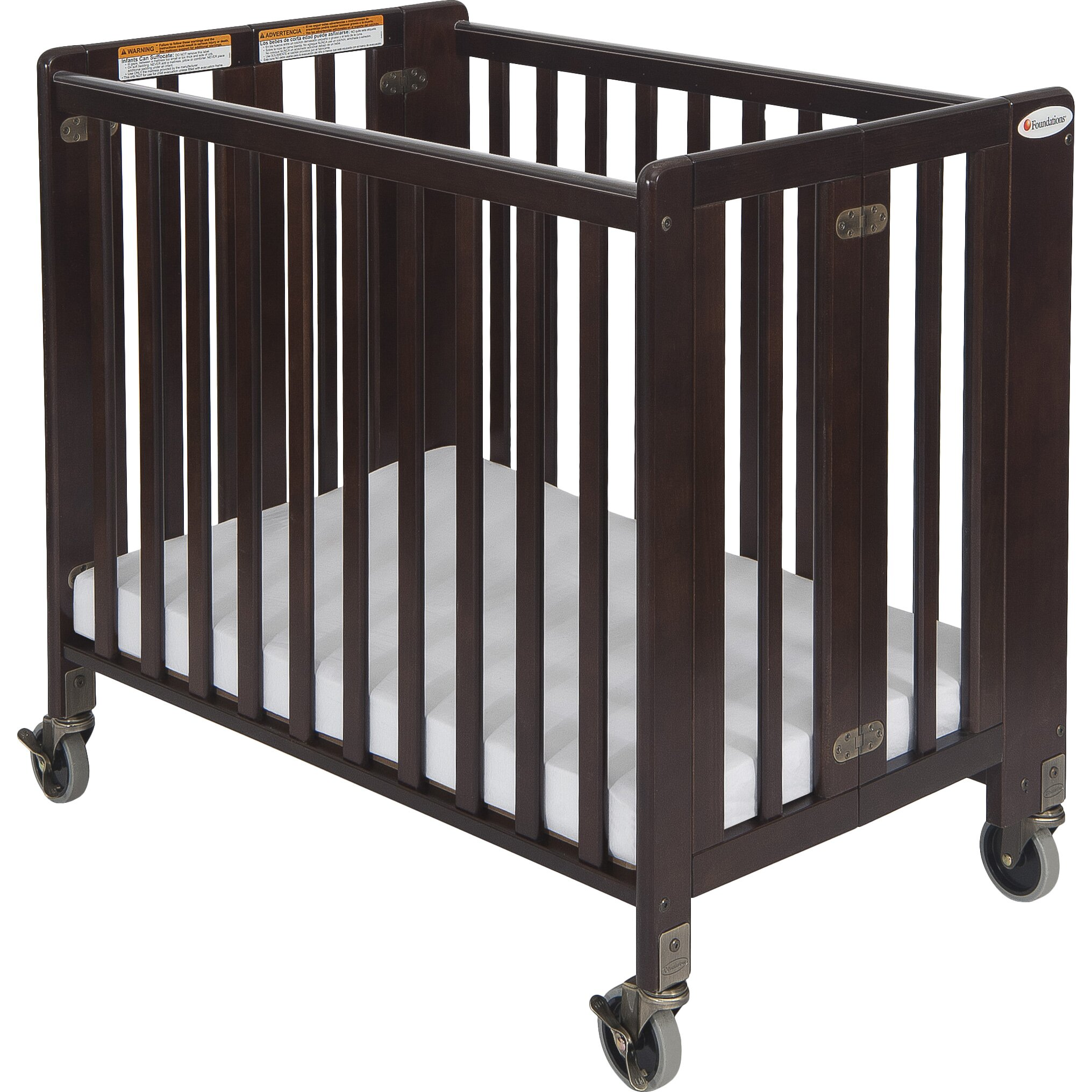 Crib for sale charleston sc - Foundations Hideaway Storable Wood Convertible Crib With Mattress