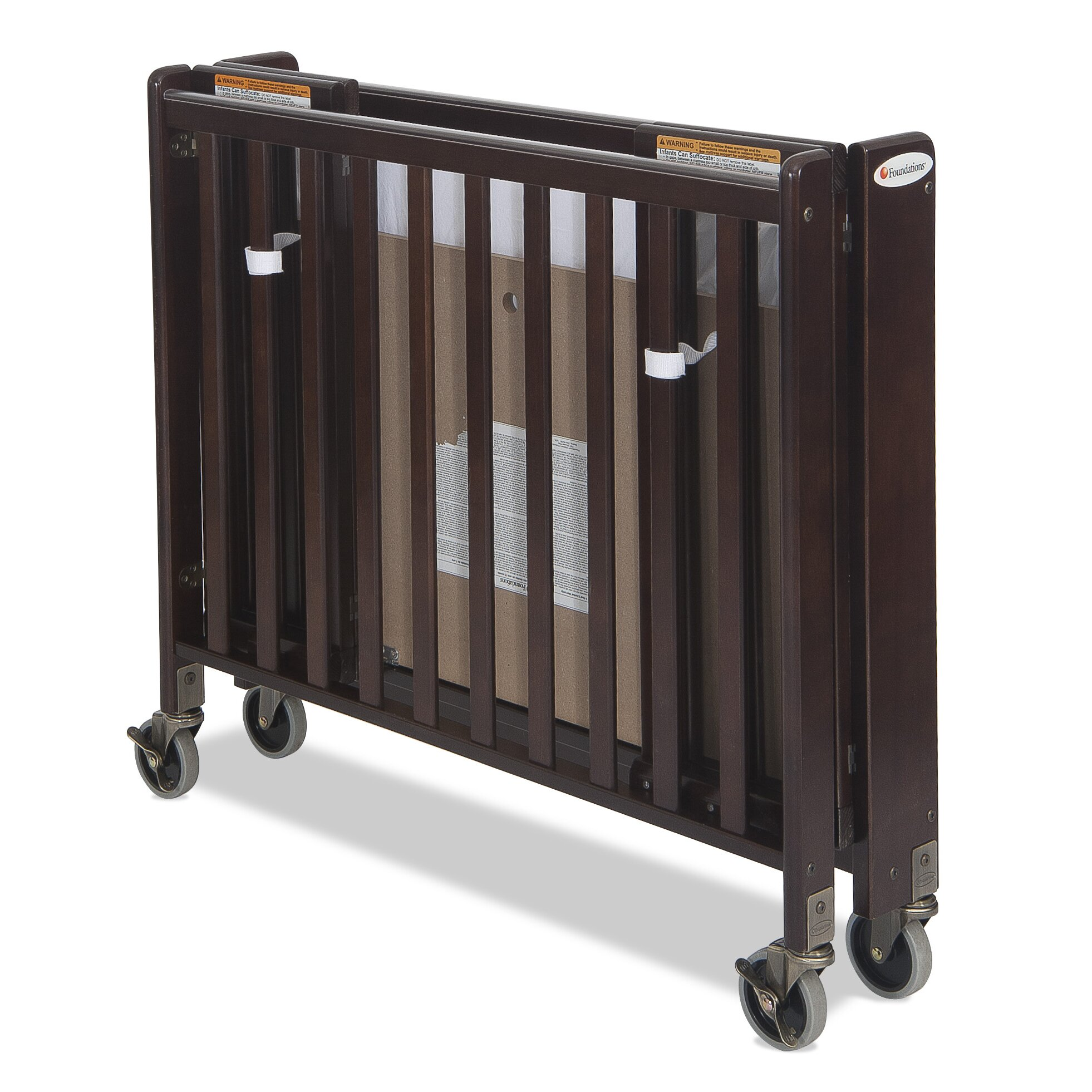 Crib for sale san diego - Foundations Hideaway Storable Wood Convertible Crib With Mattress