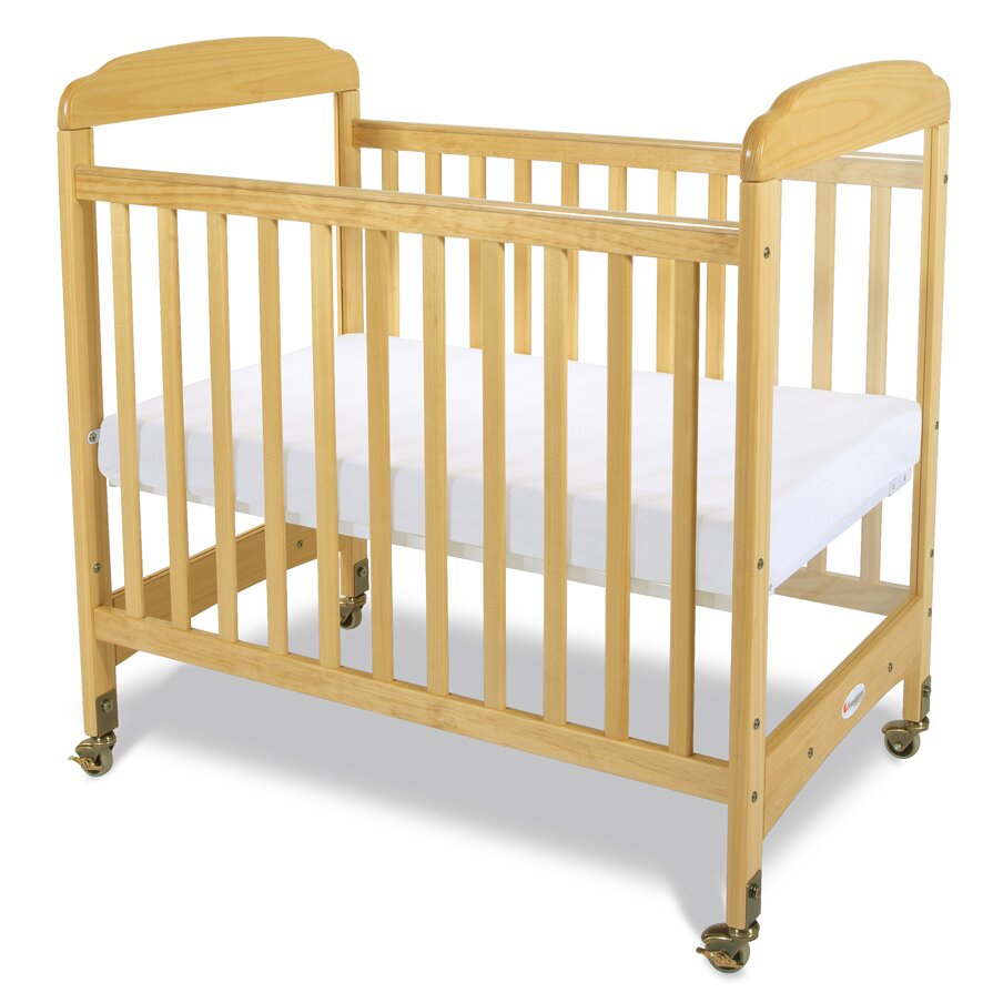 Evacuation crib for sale - Foundations Serenity Compact Size Fixed Side Clearview Convertible Crib With Mattress