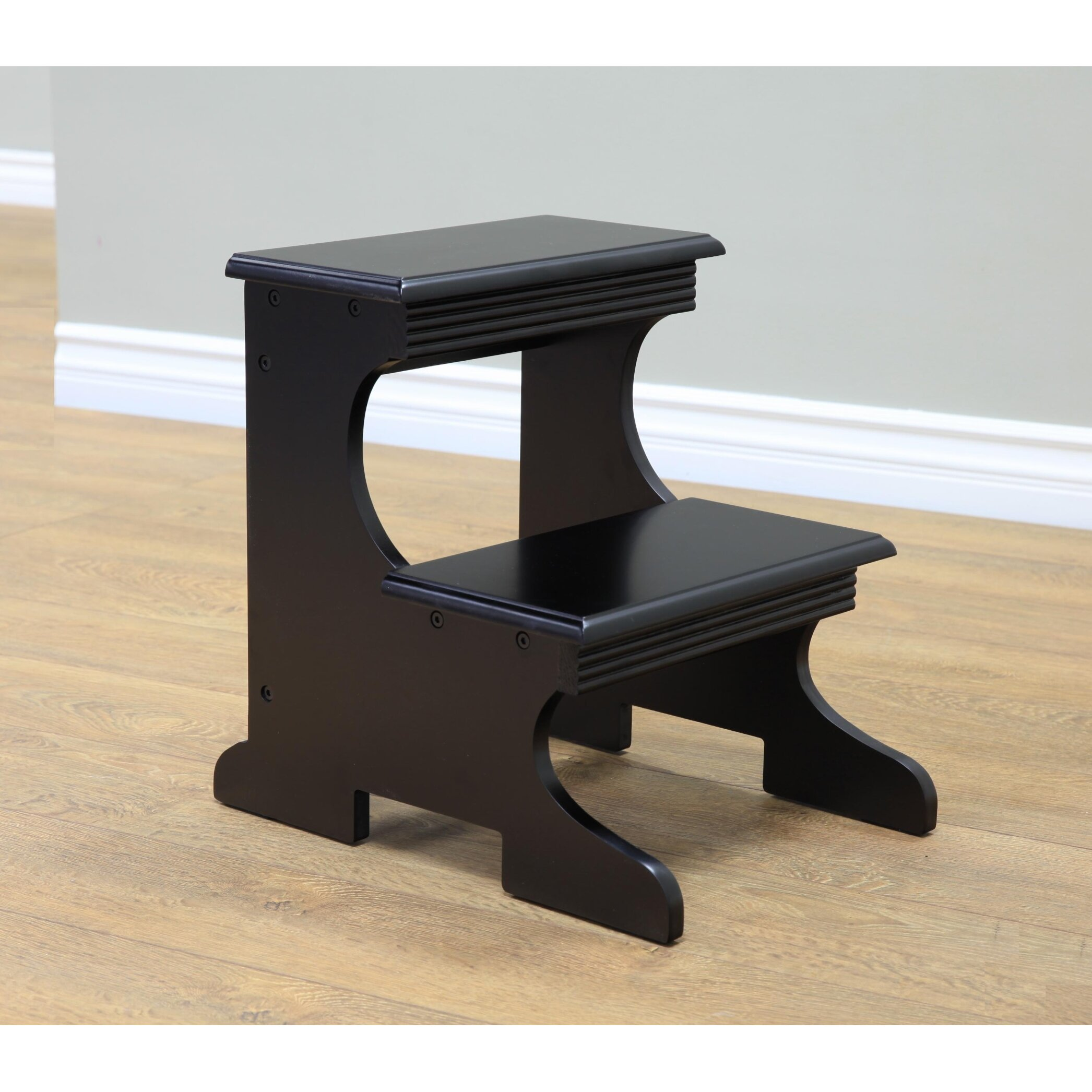 Wooden step stool for kitchen - Bath Shower Folding Kitchen Step Stool 2 Wooden Ladder