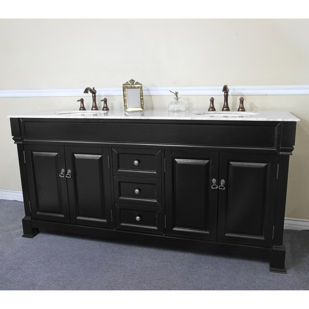 Bellaterra home 72 double bathroom vanity set reviews for Bathroom cabinets reviews