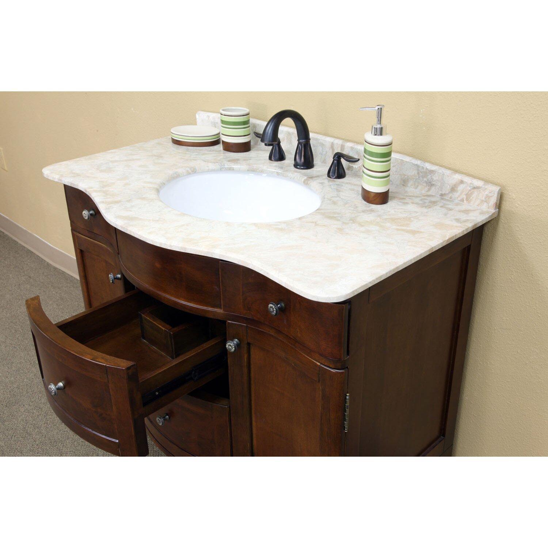 39 Bathroom Vanity Bellaterra Home Wheeler 39 Single Bathroom Vanity Set Reviews