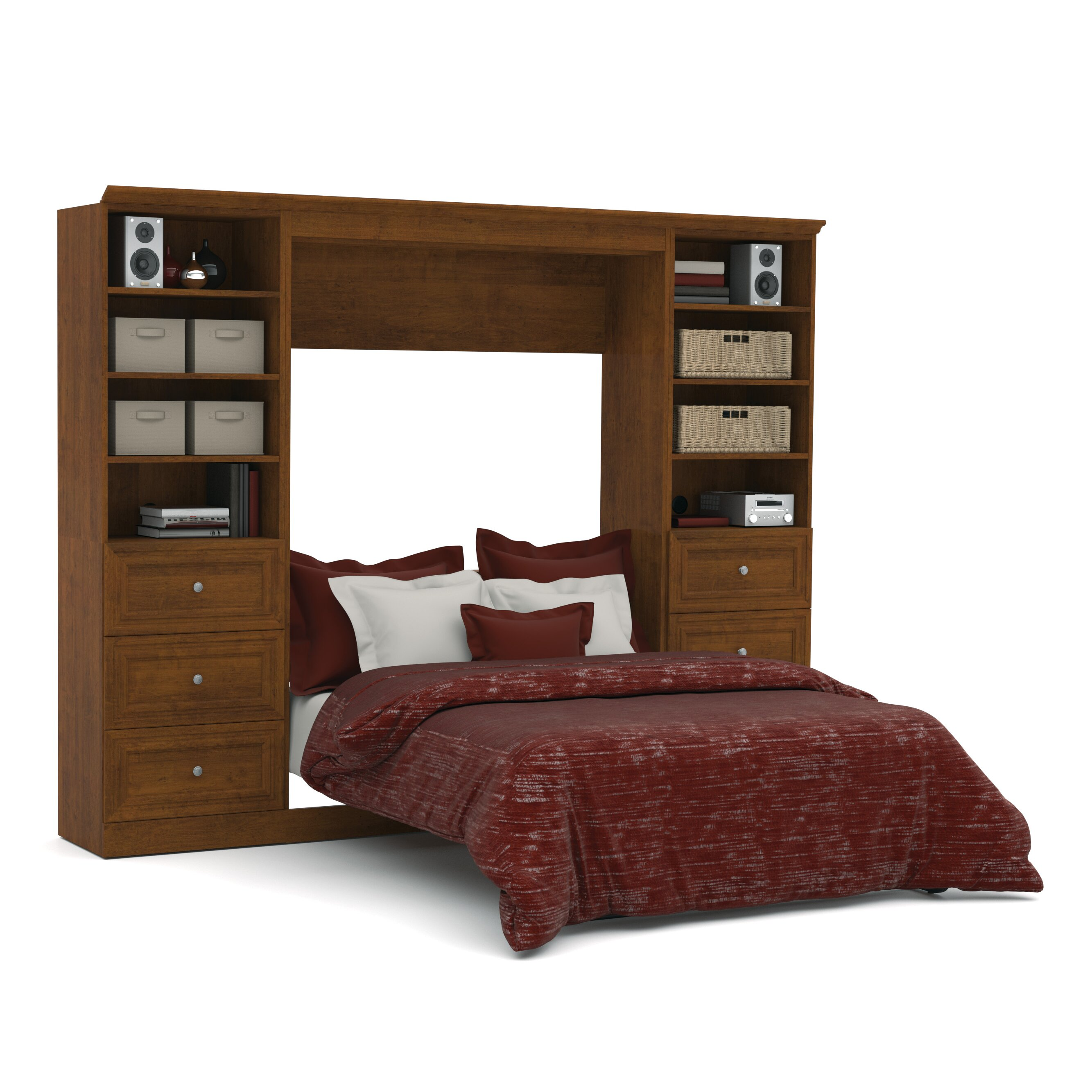 bestar versatile full double murphy bed reviews