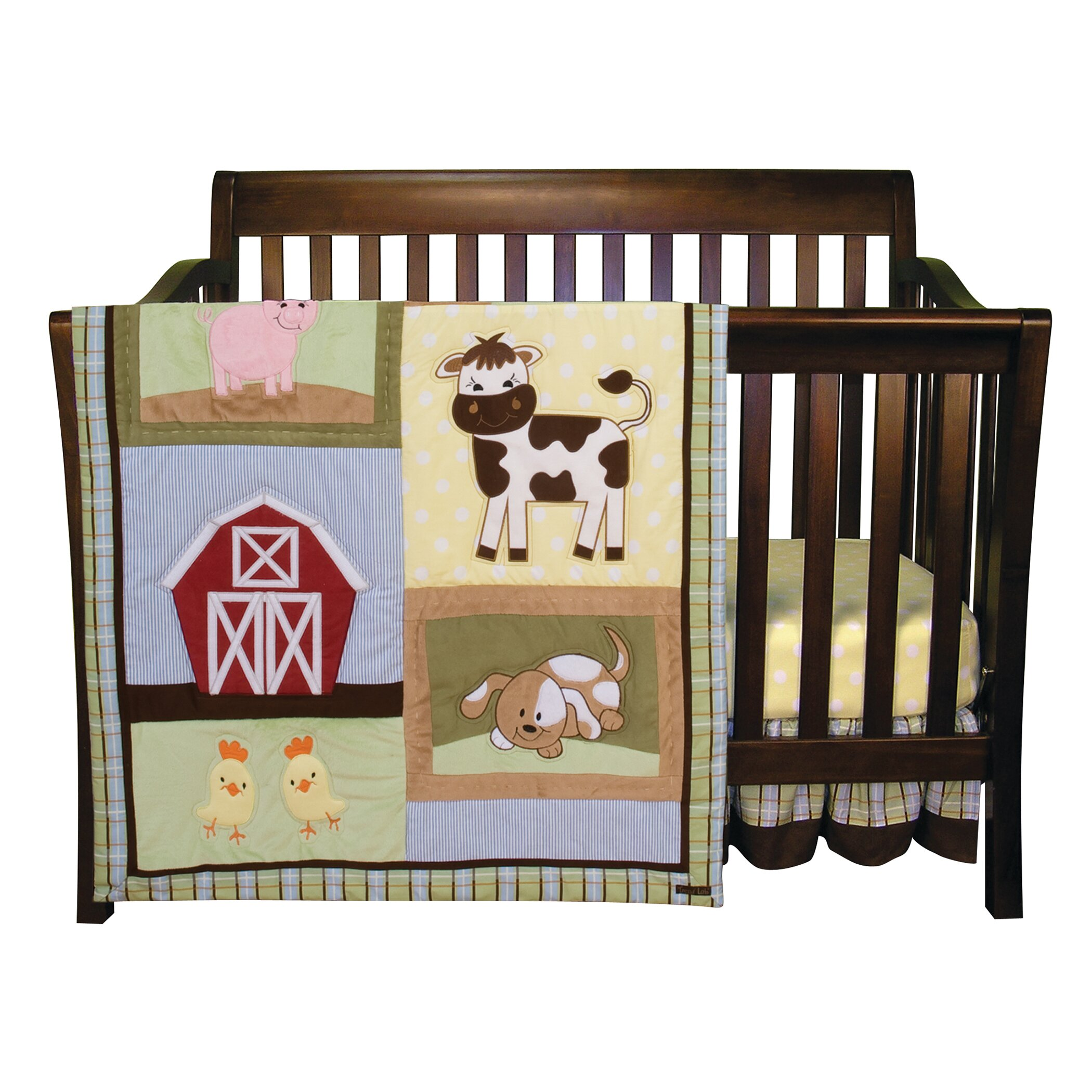 Trend Lab Baby Barnyard 3 Piece Crib Bedding Set Wayfair