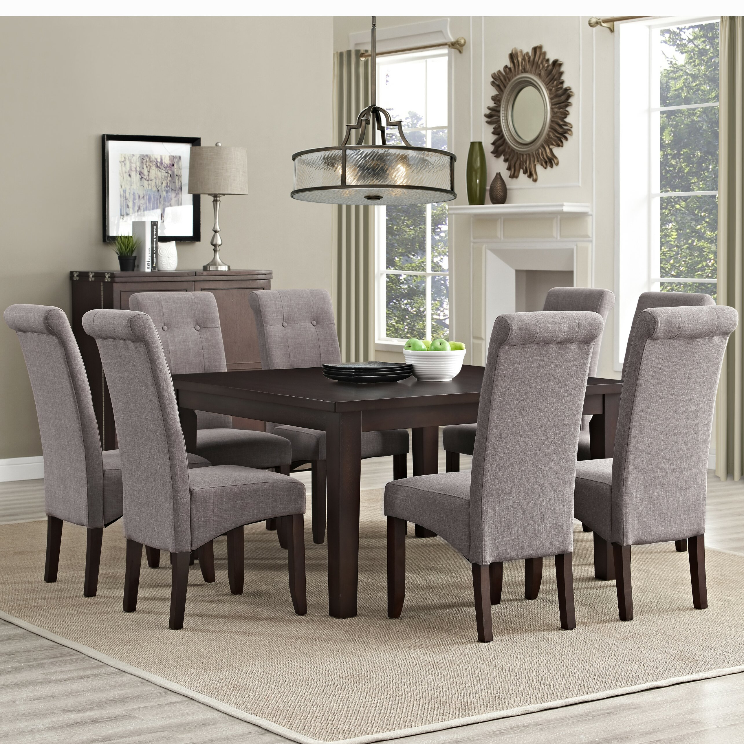 Simpli home eastwood 9 piece dining set reviews wayfair for 2 piece dining room set