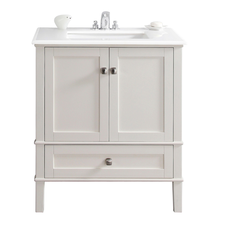 simpli home chelsea 31quot single bathroom vanity set - Ensemble Vanite Armoire