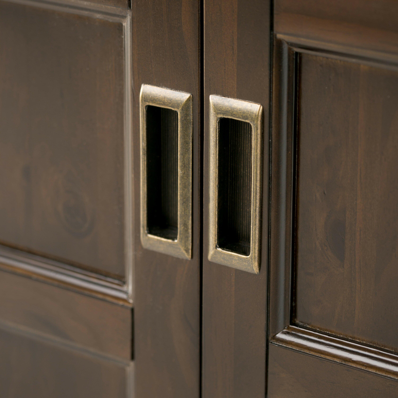 Low Storage Cabinet Simpli Home Burlington 2 Door Low Storage Cabinet Reviews