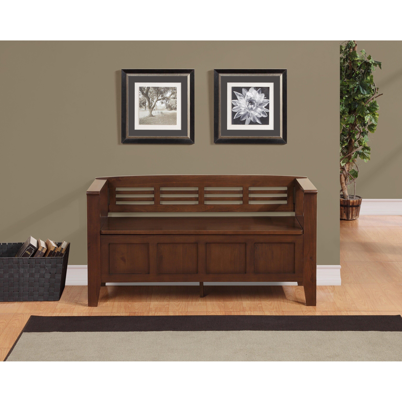 Foyer Mudroom Reviews : Simpli home adams wood storage entryway bench reviews
