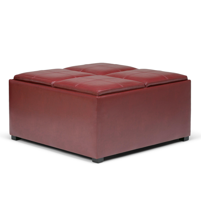 Simpli Home Avalon Coffee Table Storage Ottoman Amp Reviews