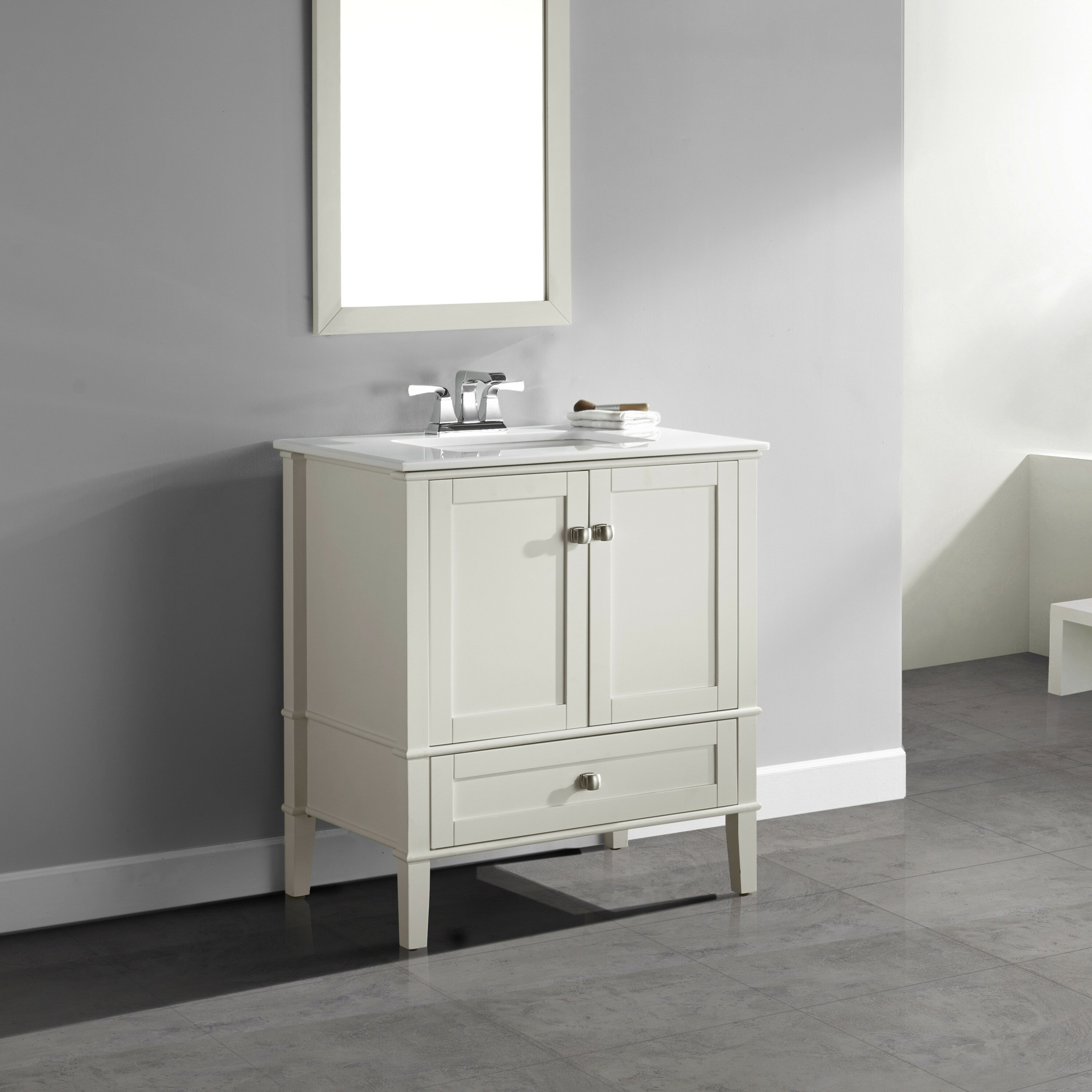 Bathroom Single Vanity Simpli Home Chelsea 31 Single Bathroom Vanity Set Reviews Wayfair