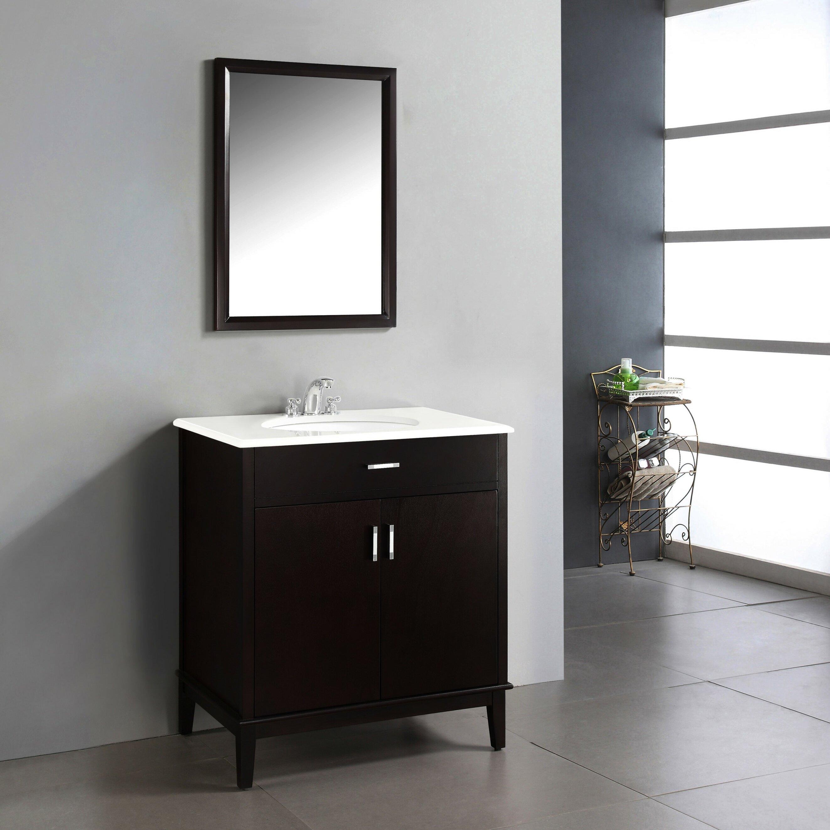 "simpli home urban loft 31"" single bathroom vanity set & reviews"