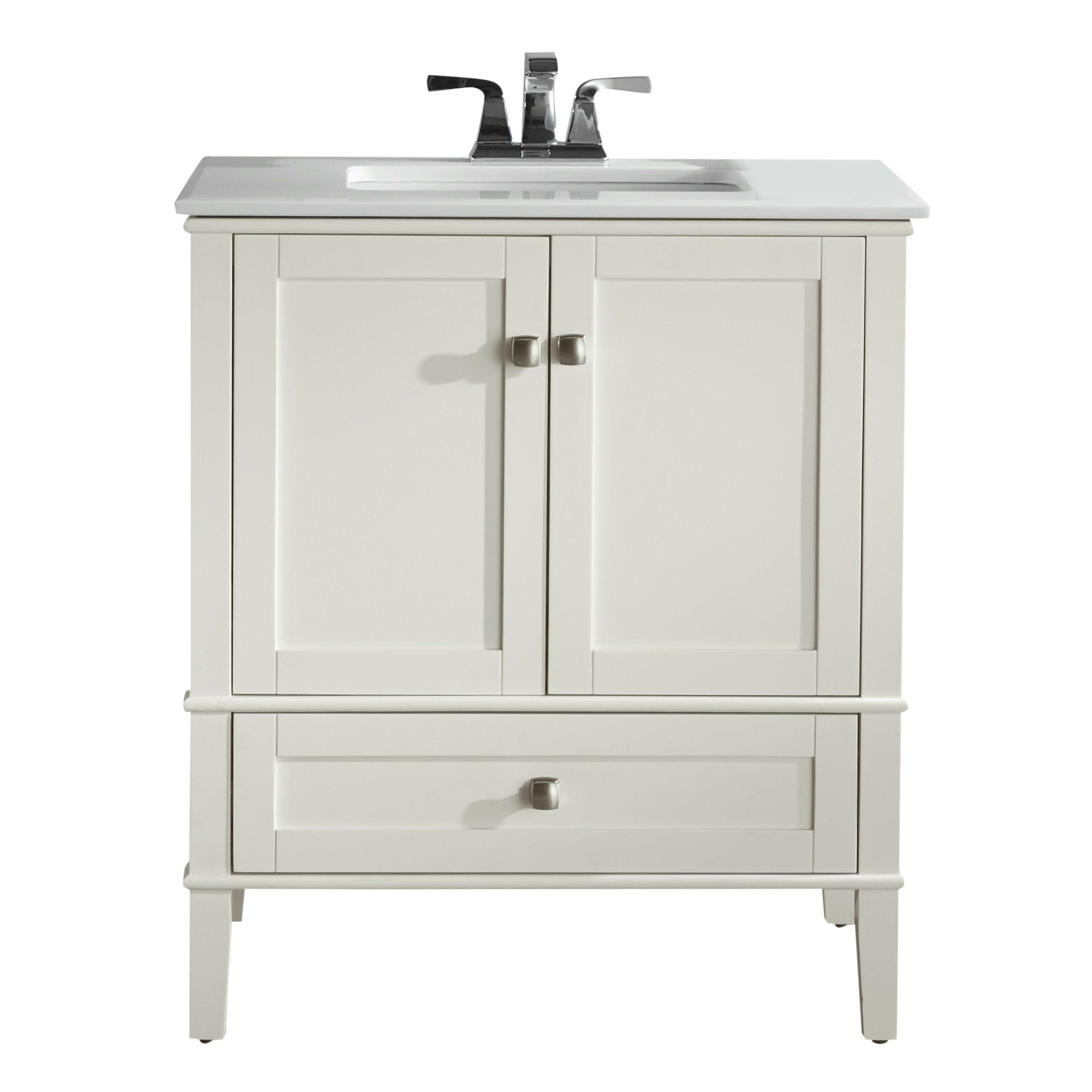 Bathroom Vanity Set Simpli Home Chelsea 31 Single Bathroom Vanity Set Reviews Wayfair