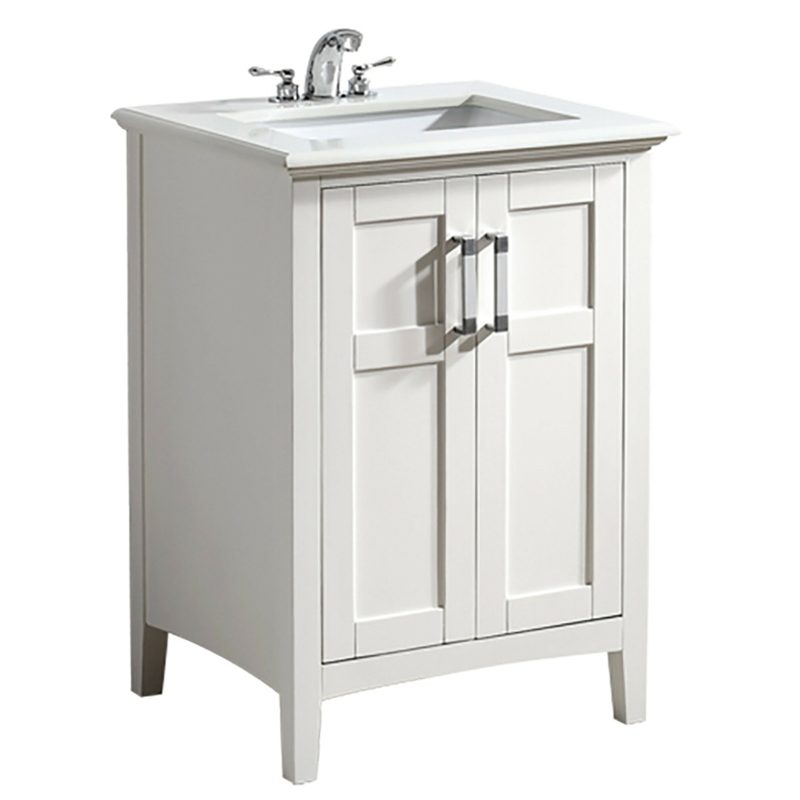 "simpli home winston 24"" single bathroom vanity set & reviews 