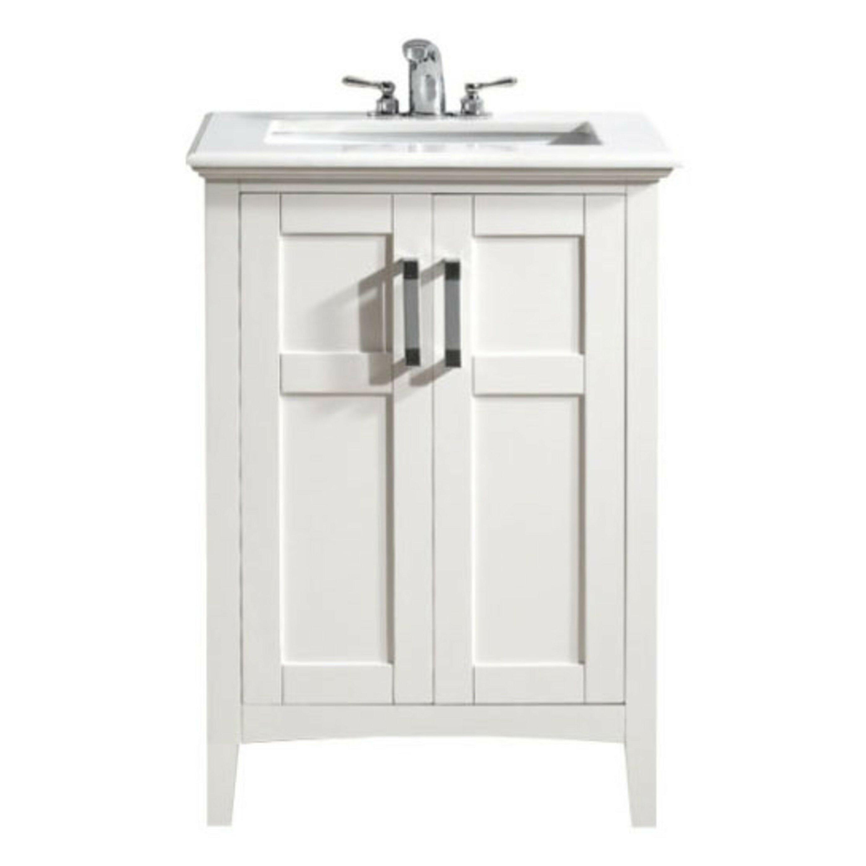 Simpli Home Winston 24 Single Bathroom Vanity Set Reviews Wayfair .