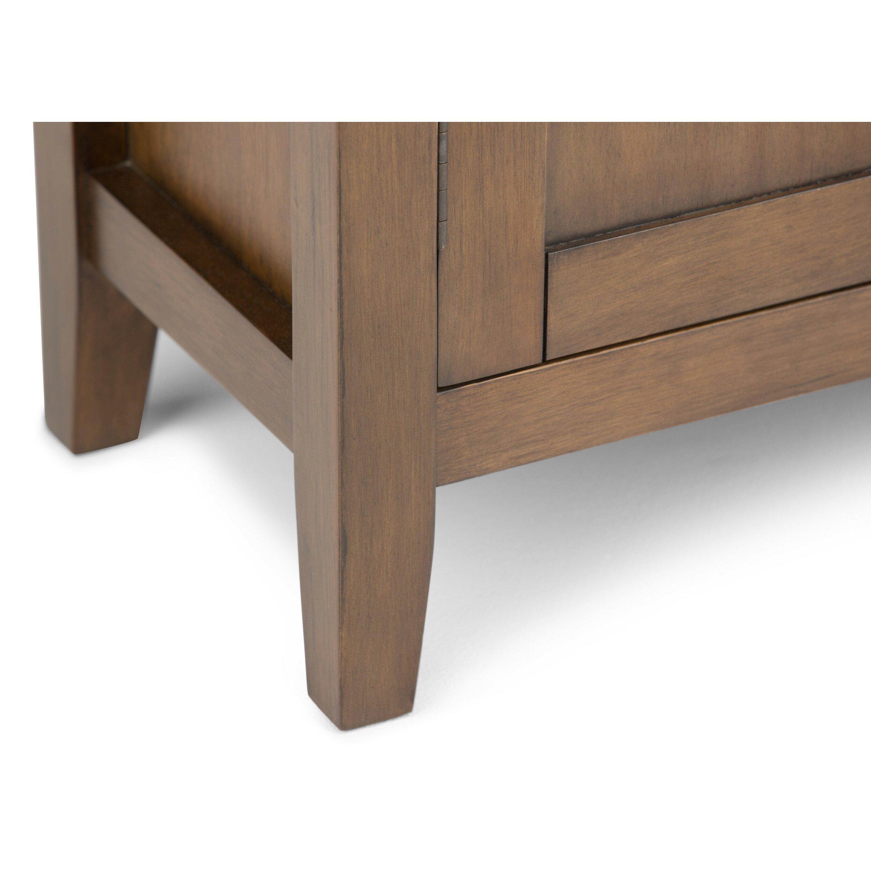Low Storage Cabinet Simpli Home Redmond 2 Door Low Storage Cabinet Wayfairca